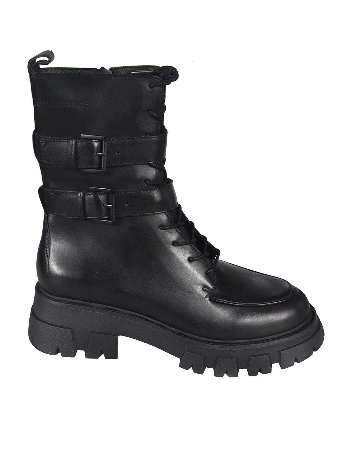 Ash Lars combat boots in black