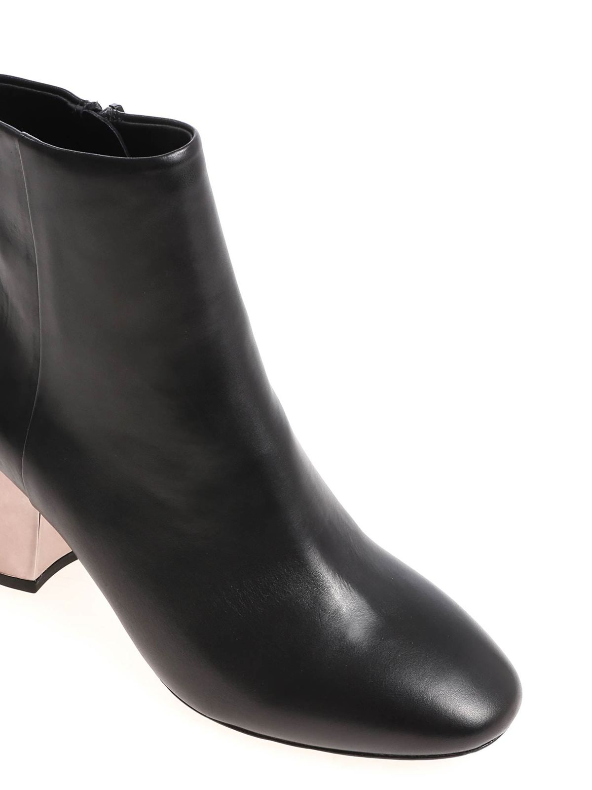 Harlem ankle boots with silver heel