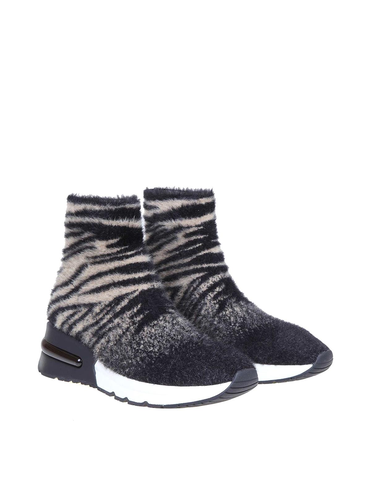 Ash - King tiger print sock sneakers
