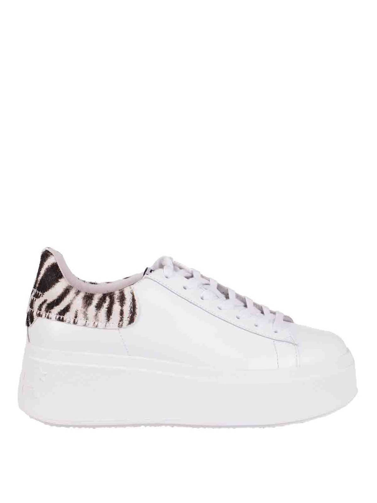 Ash ZEBRA-STRIPED HEEL TAB SNEAKERS