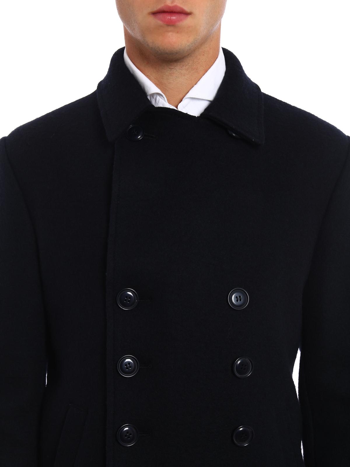 new arrival 3829e 260a2 Aspesi - Caban in lana cotta - giacche casual ...