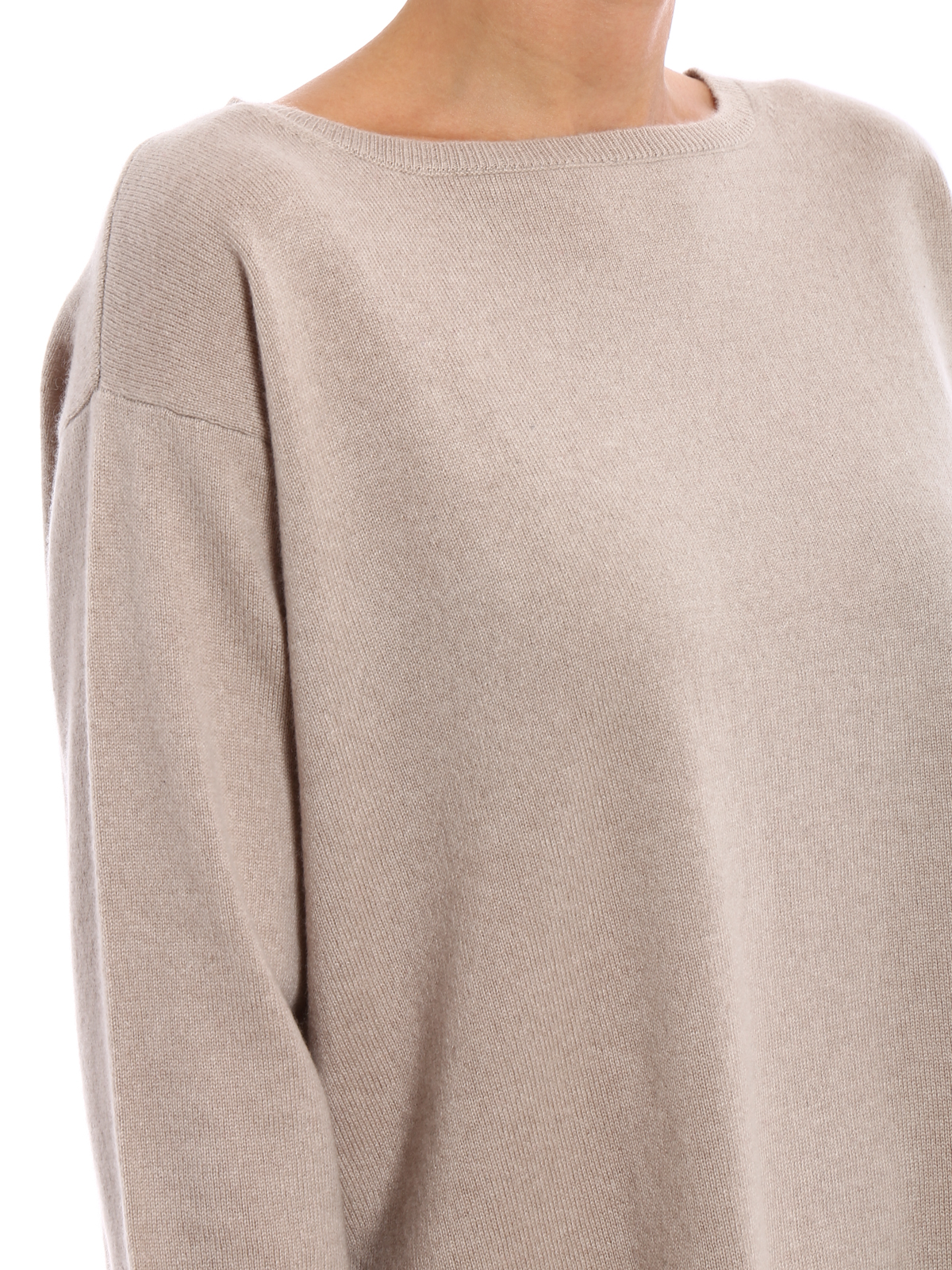 Relaxed boat neck cashmere sweater by Aspesi - boat necks | iKRIX