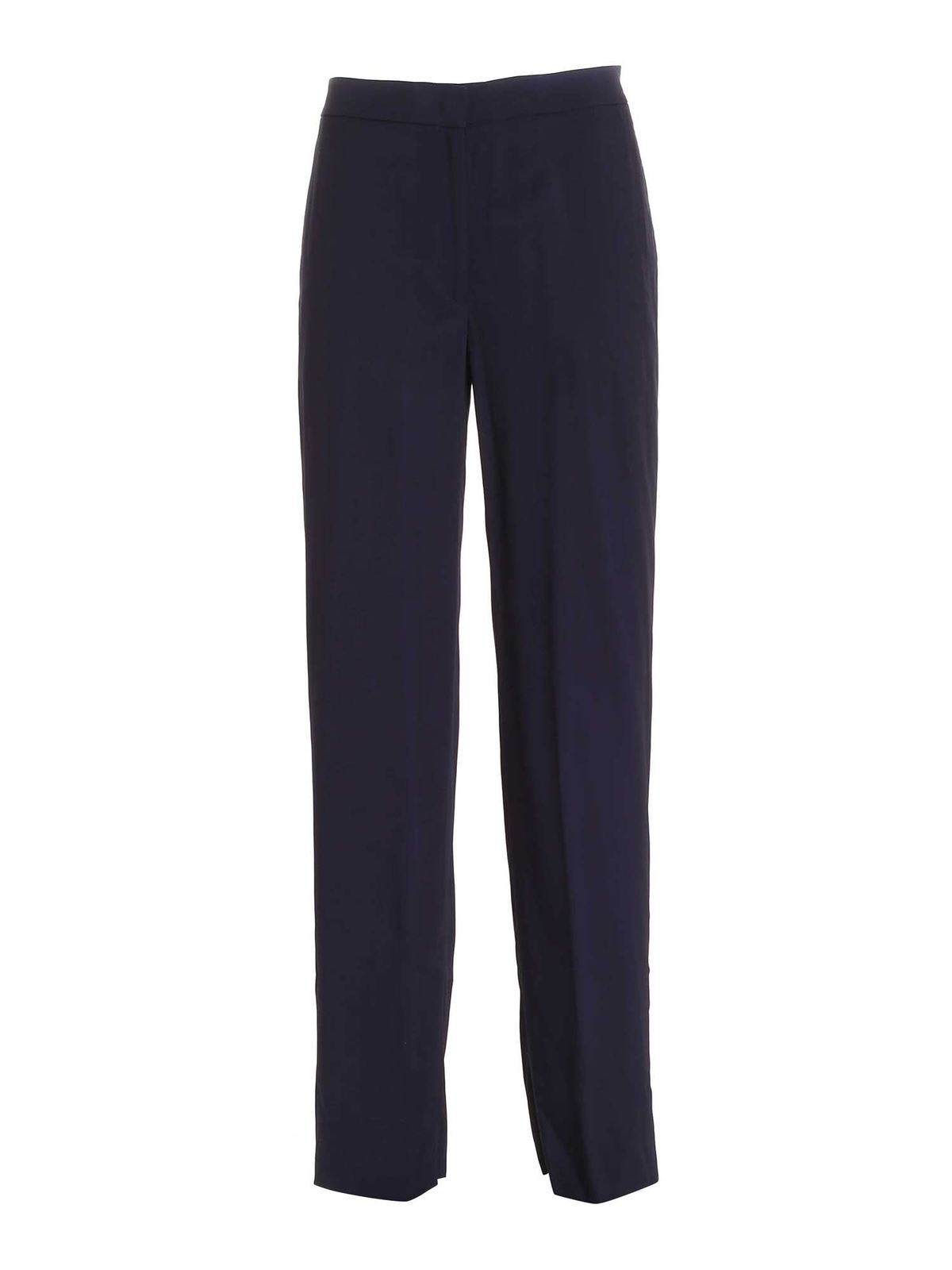 Aspesi SIDE BAND LOOSE FIT PANTS IN BLUE