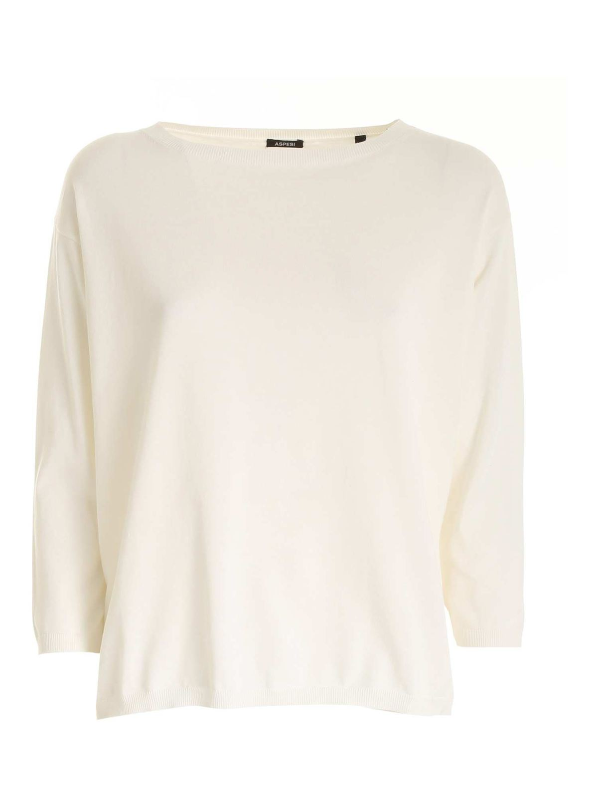 Aspesi BOXY SWEATER IN IVORY COLOR