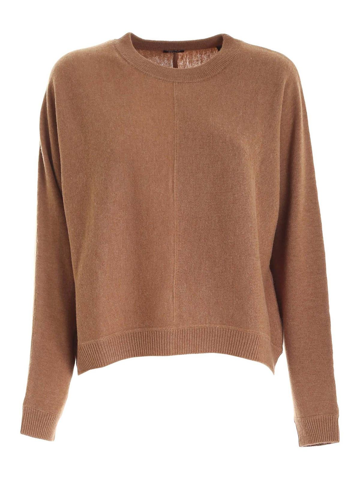 Aspesi WOOL PULLOVER IN BROWN