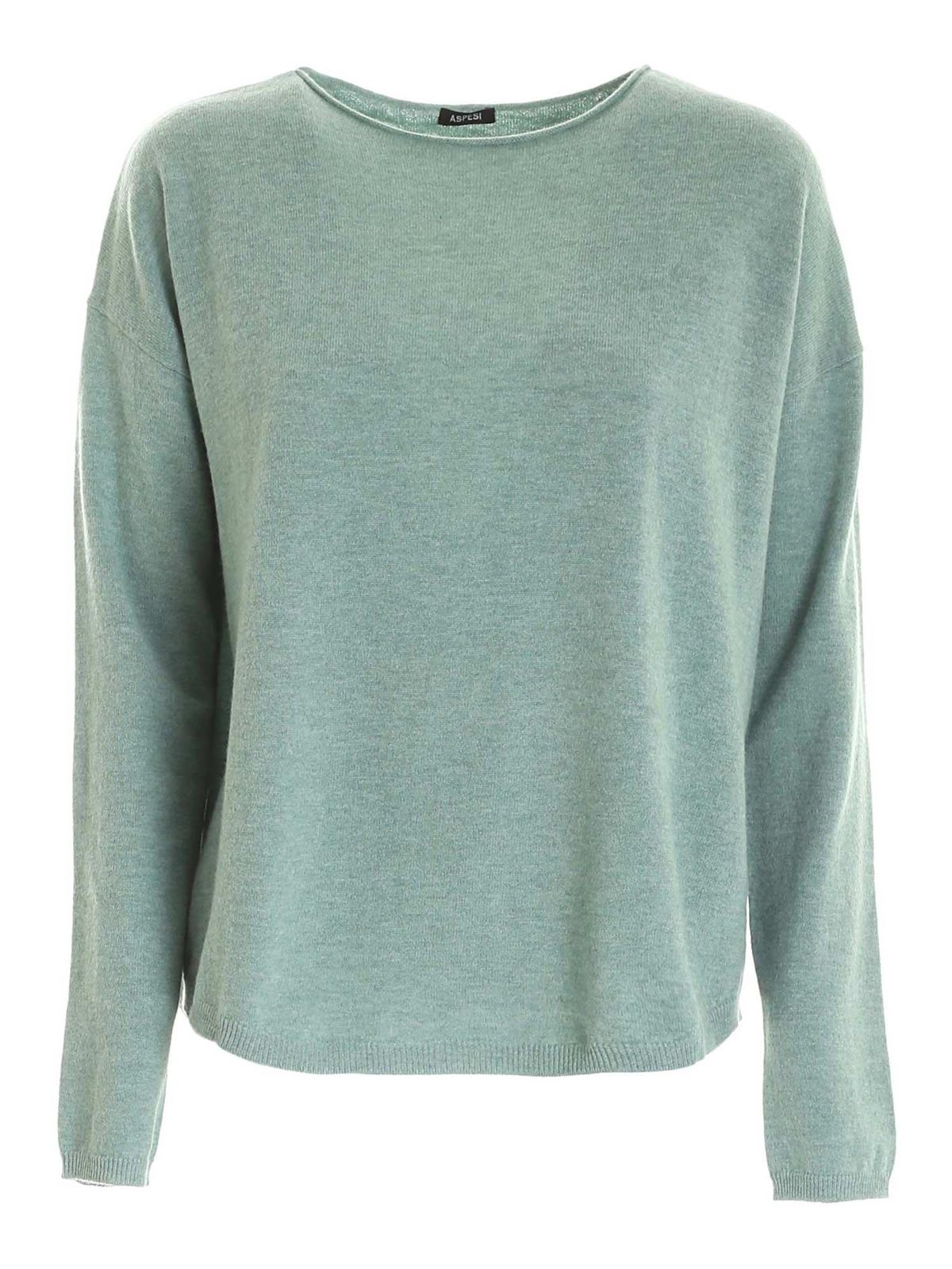 Aspesi WOOL PULLOVER IN SAGE GREEN
