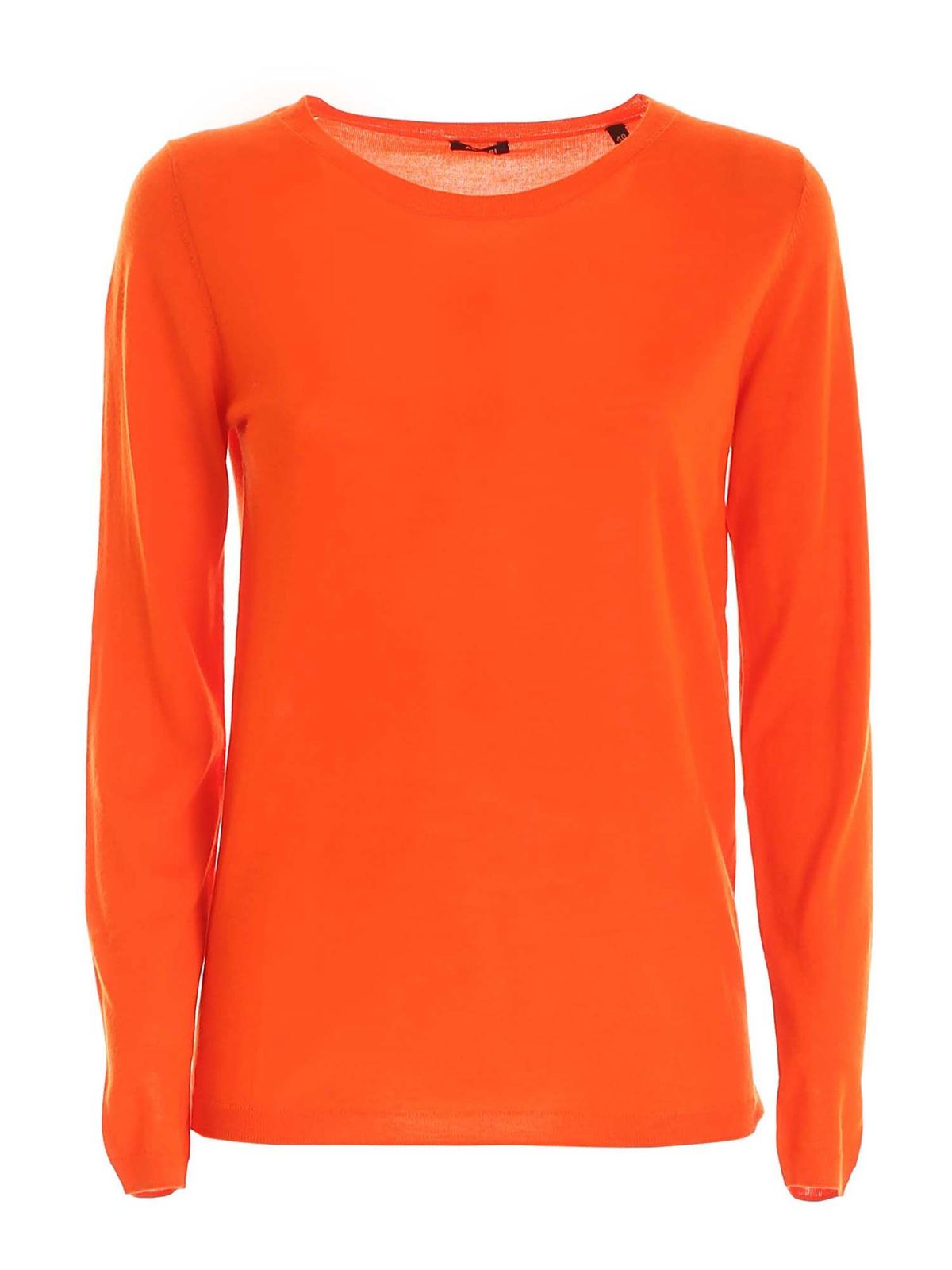 Aspesi WOOL PULLOVER IN ORANGE