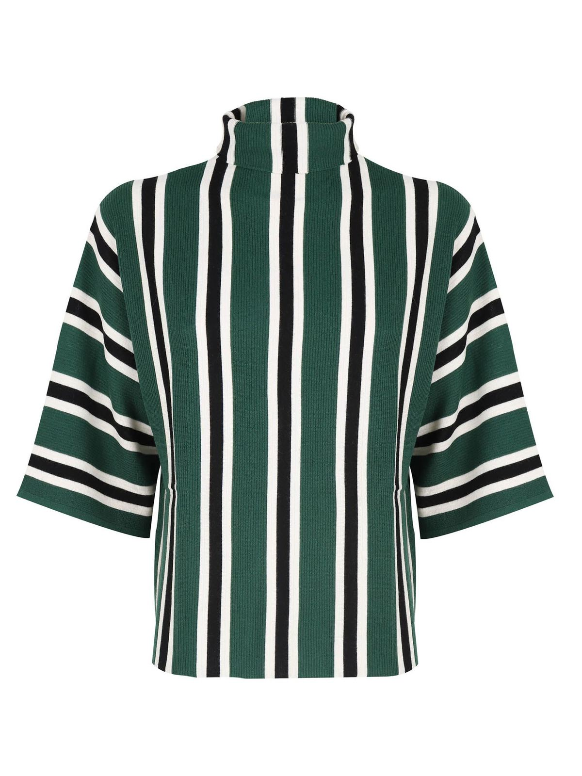 Aspesi STRIPED PATTERN T-SHIRT IN GREEN