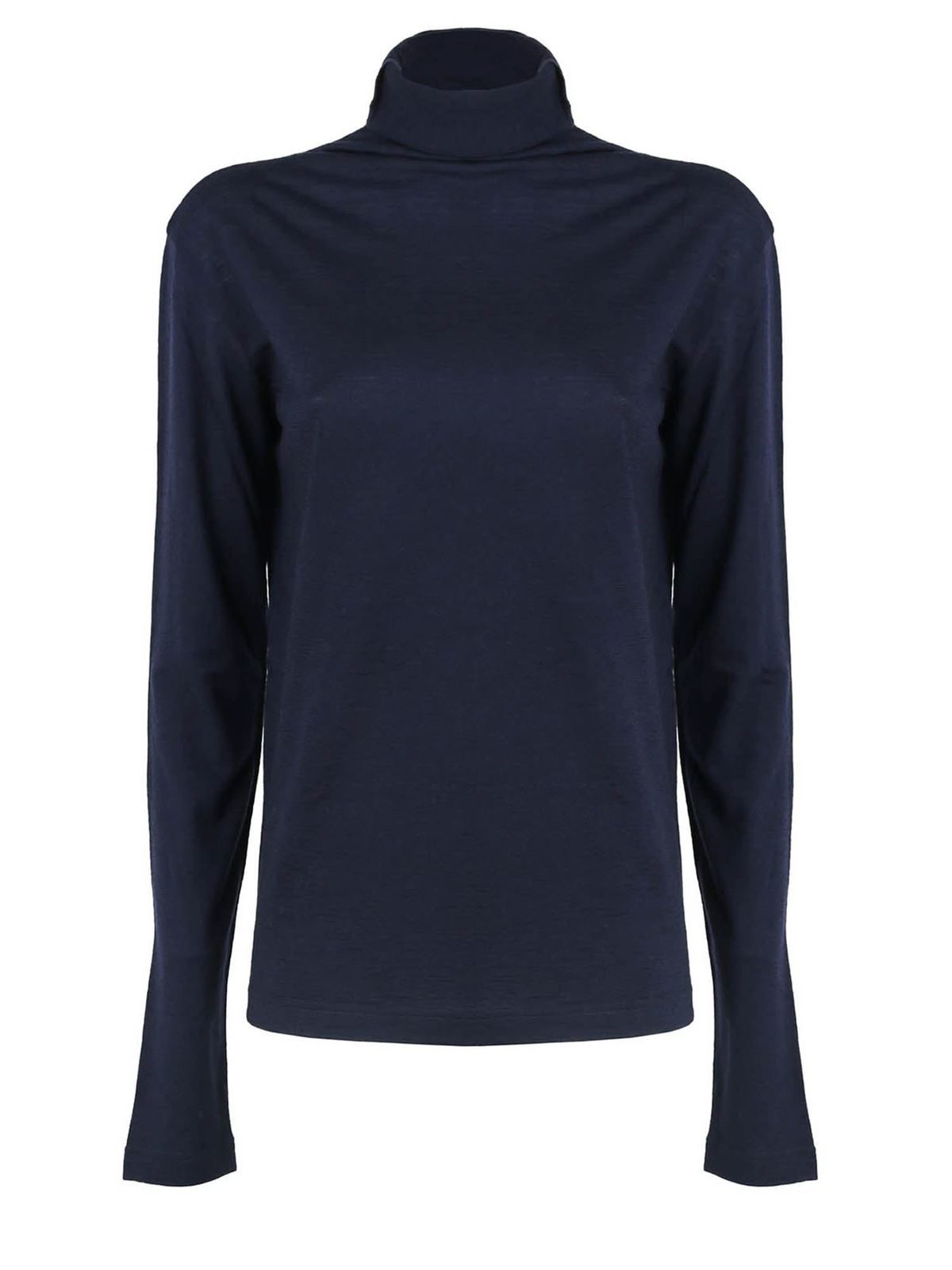 Aspesi WOOL TURTLENECK IN BLUE