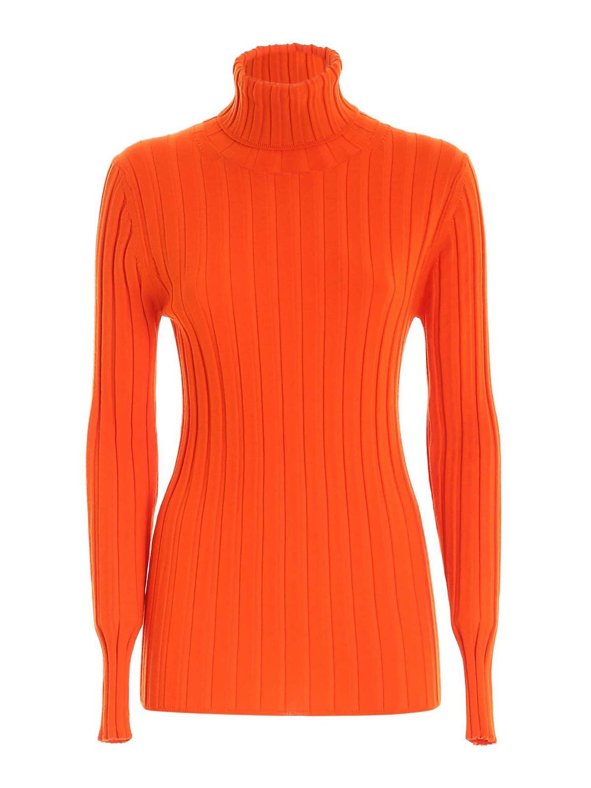 Aspesi WOOL TURTLENECK IN ORANGE
