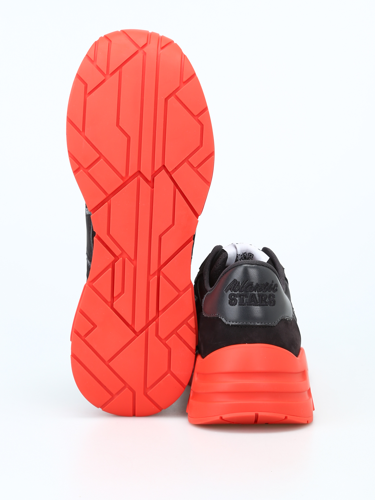 the best attitude 09586 6c4f0 Atlantic Stars - Mars black sneakers with red rubber sole ...