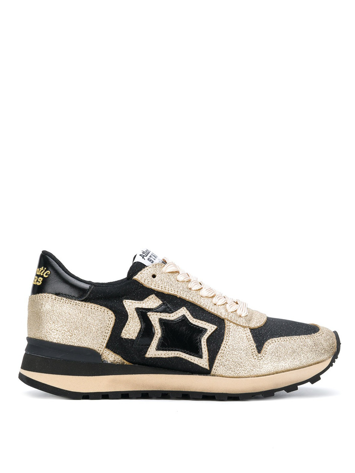 Atlantic Stars Sneaker Alhena in pelle color oro e nera