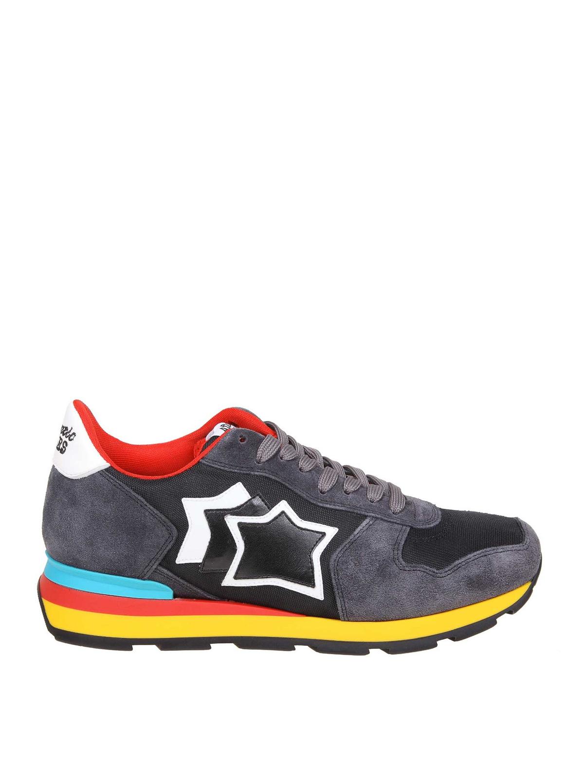 Sneaker Grigio Atlantic Antares Grigie Stars Ikrix Nere Pelle E Ygbf7y6