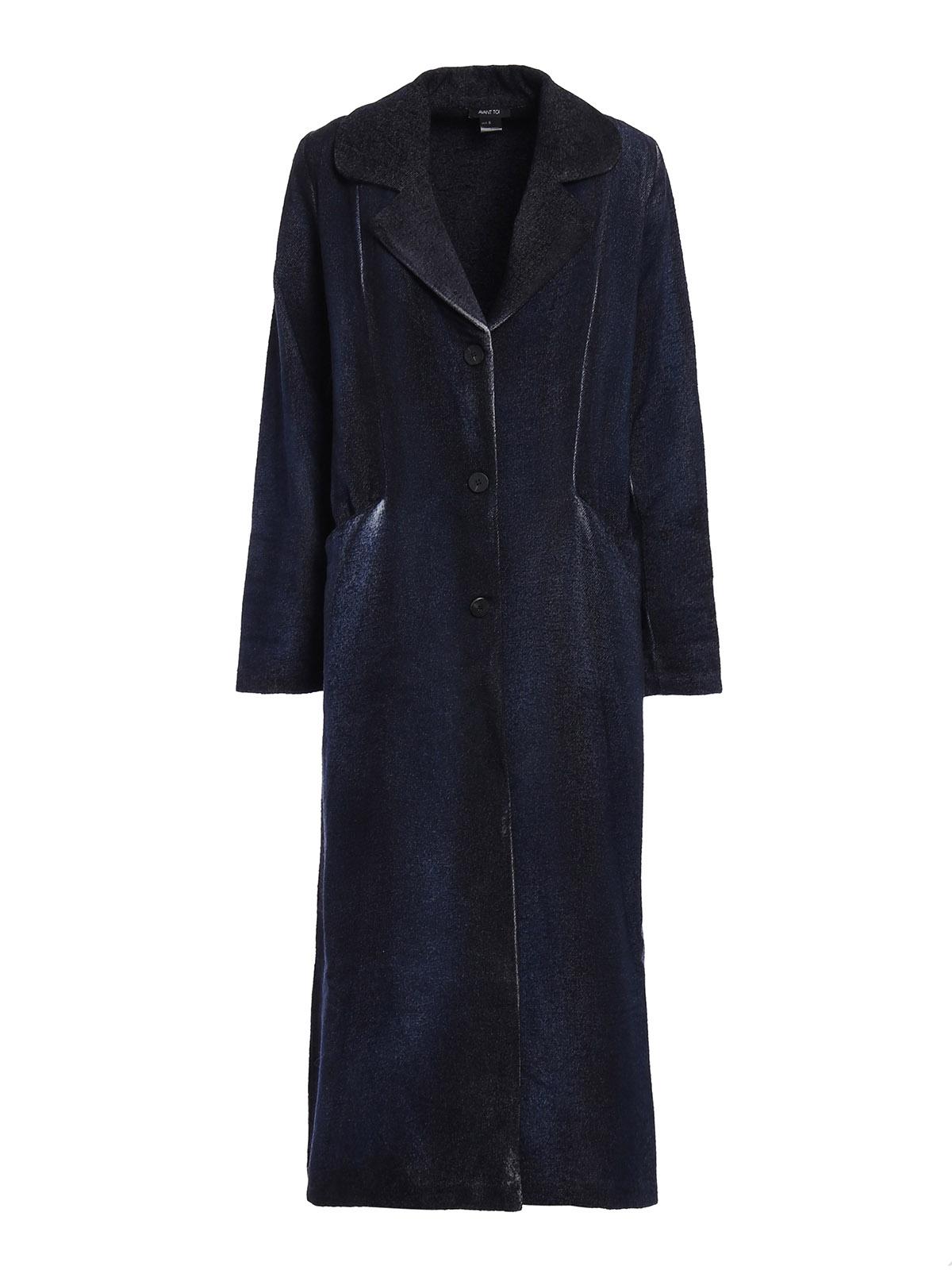 Langer mantel dunkelblau