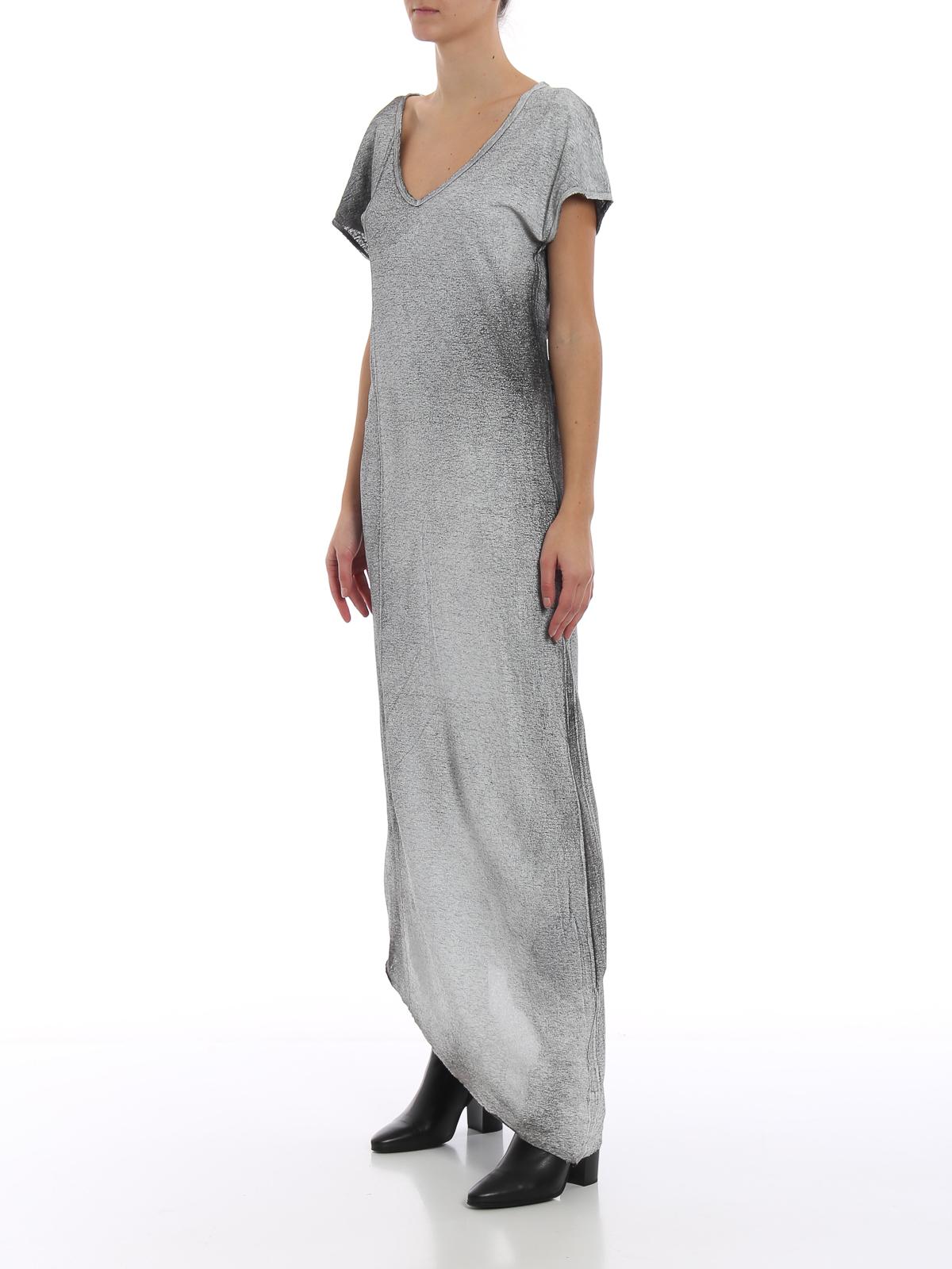online store 81f85 410de Avant Toi - Maxi abito asimmetrico in jersey di lino - abiti ...