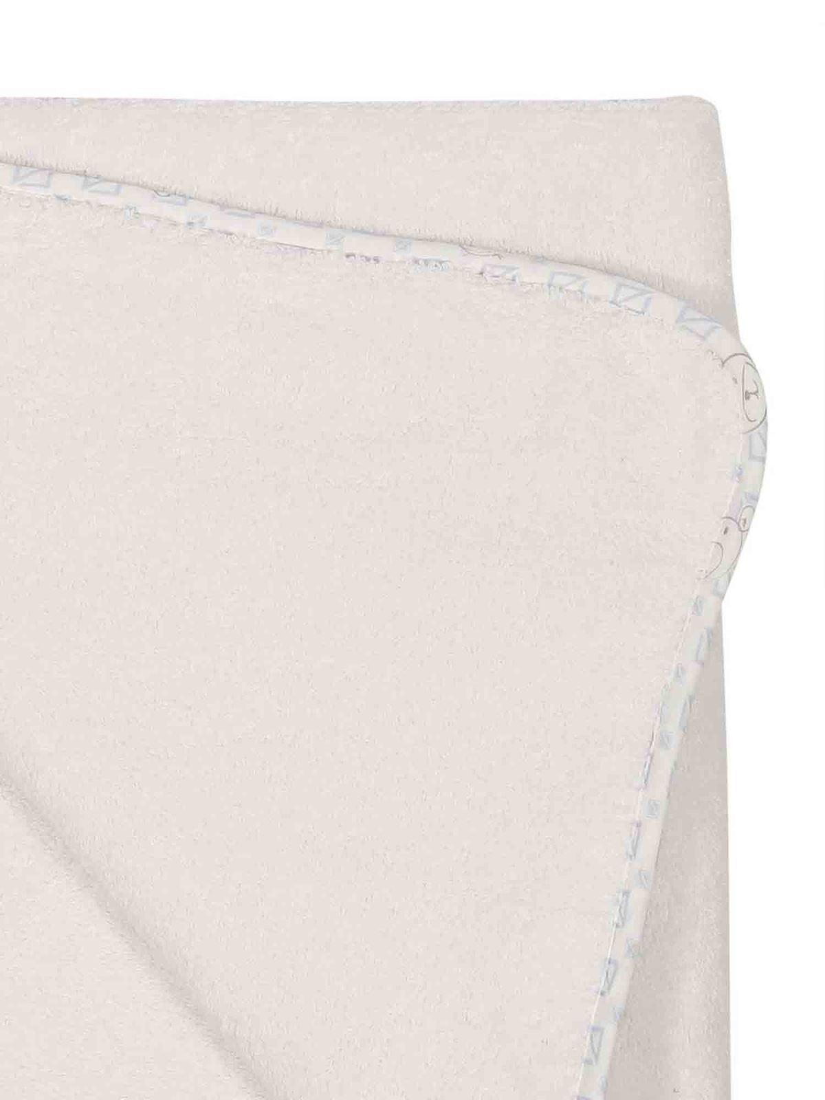 Baby Dior Cotton Bathrobe In White And Light Blue پتو 0sbp43twle504