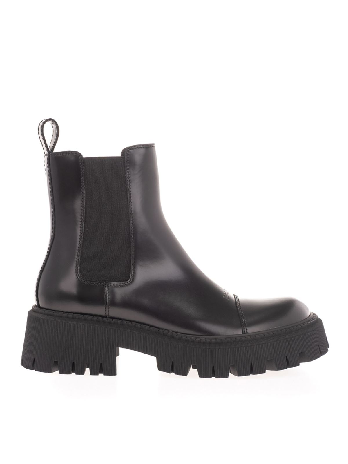 BALENCIAGA TRACTOR 20 MM ANCKLE BOOTS IN BLACK