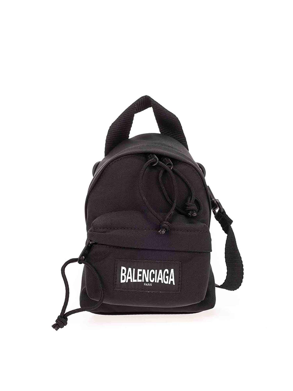 Balenciaga OVERSIZE MINI BACKPACK IN BLACK