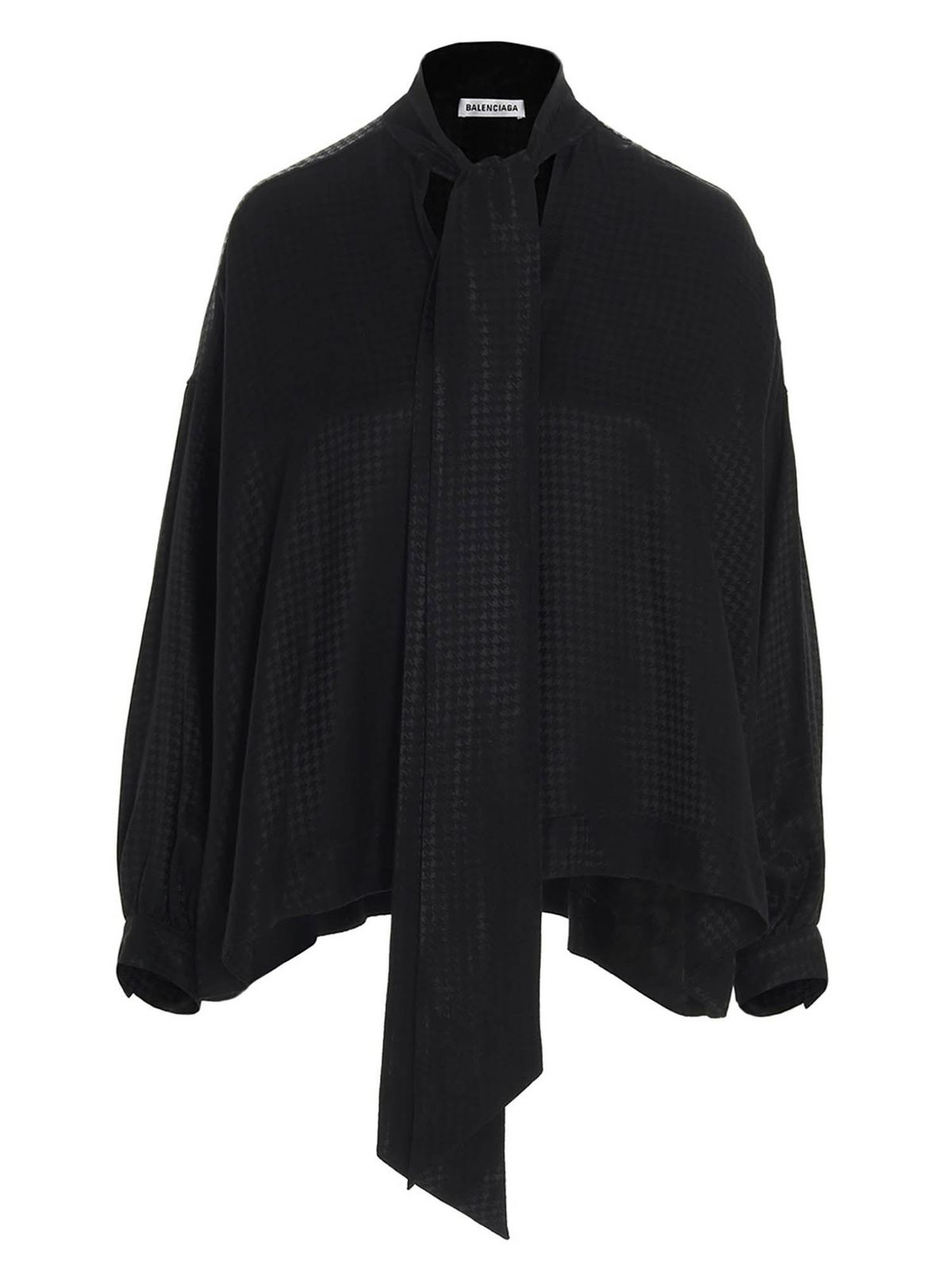 BALENCIAGA BOW BLOUSE IN BLACK