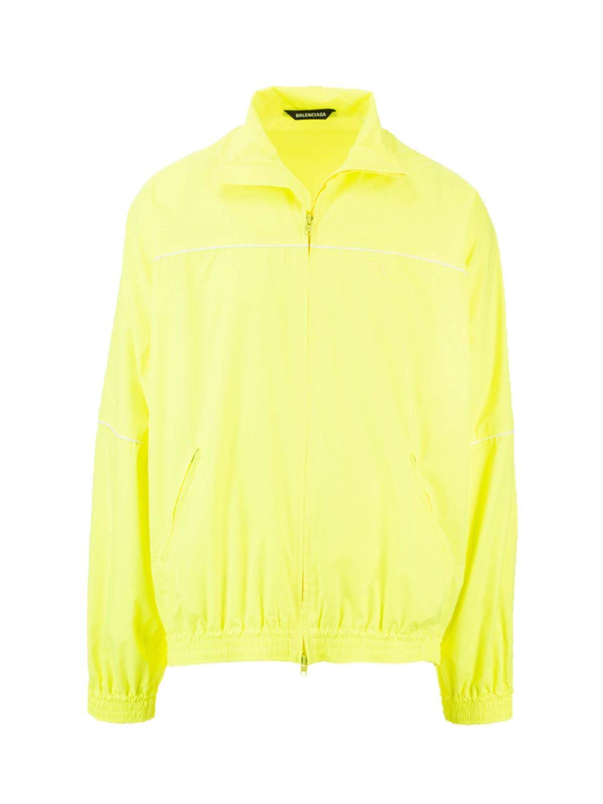 Balenciaga Jackets TRACKSUIT JACKET IN FLUO YELLOW