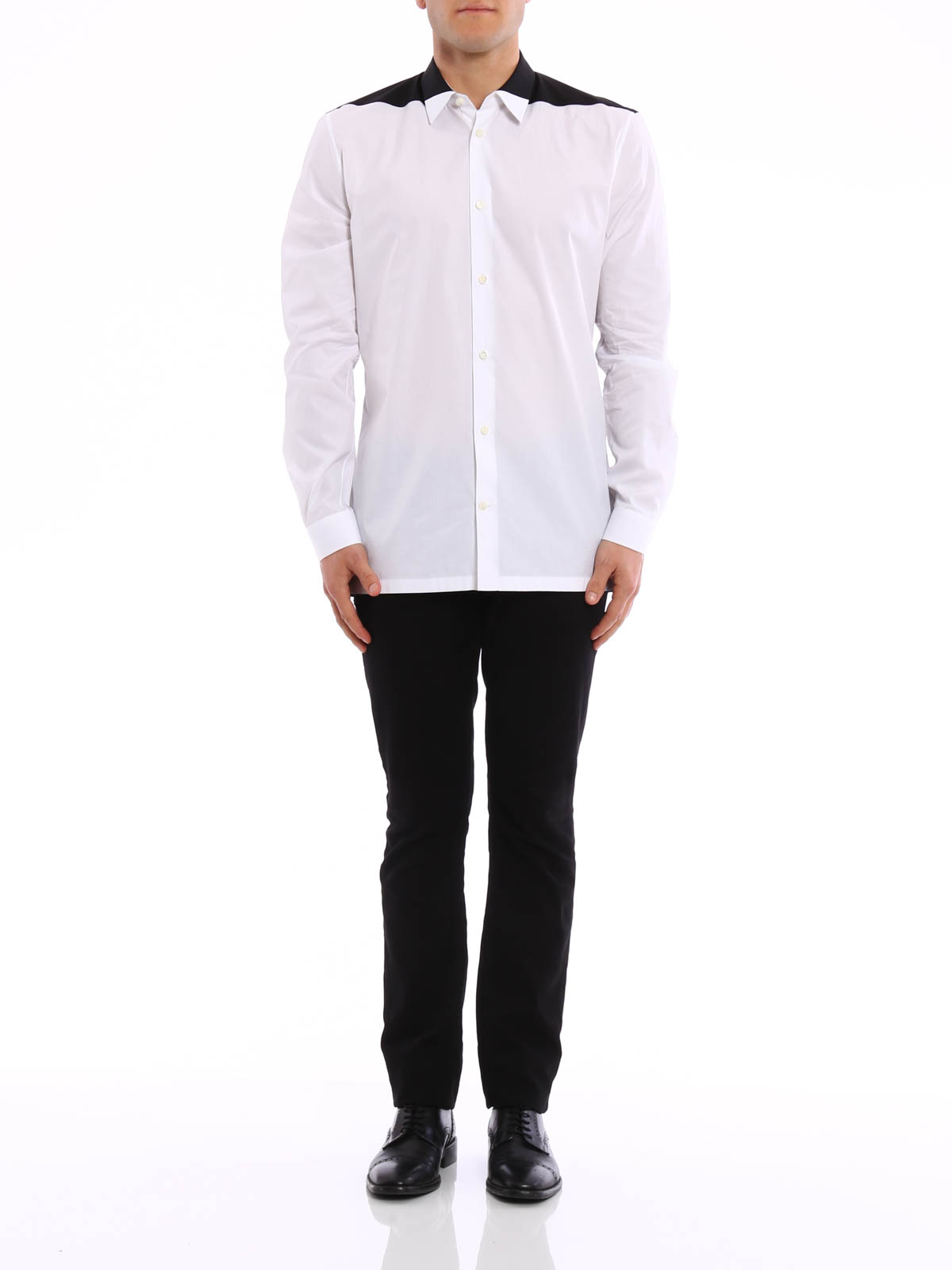 the best attitude 3fcbb b9b32 Balenciaga - Camicia bicolore - camicie - 409274 TCB10 9040 ...