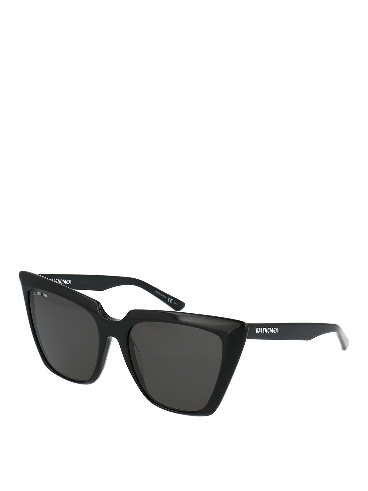 Balenciaga Black Squared Cat-Eye Sunglasses