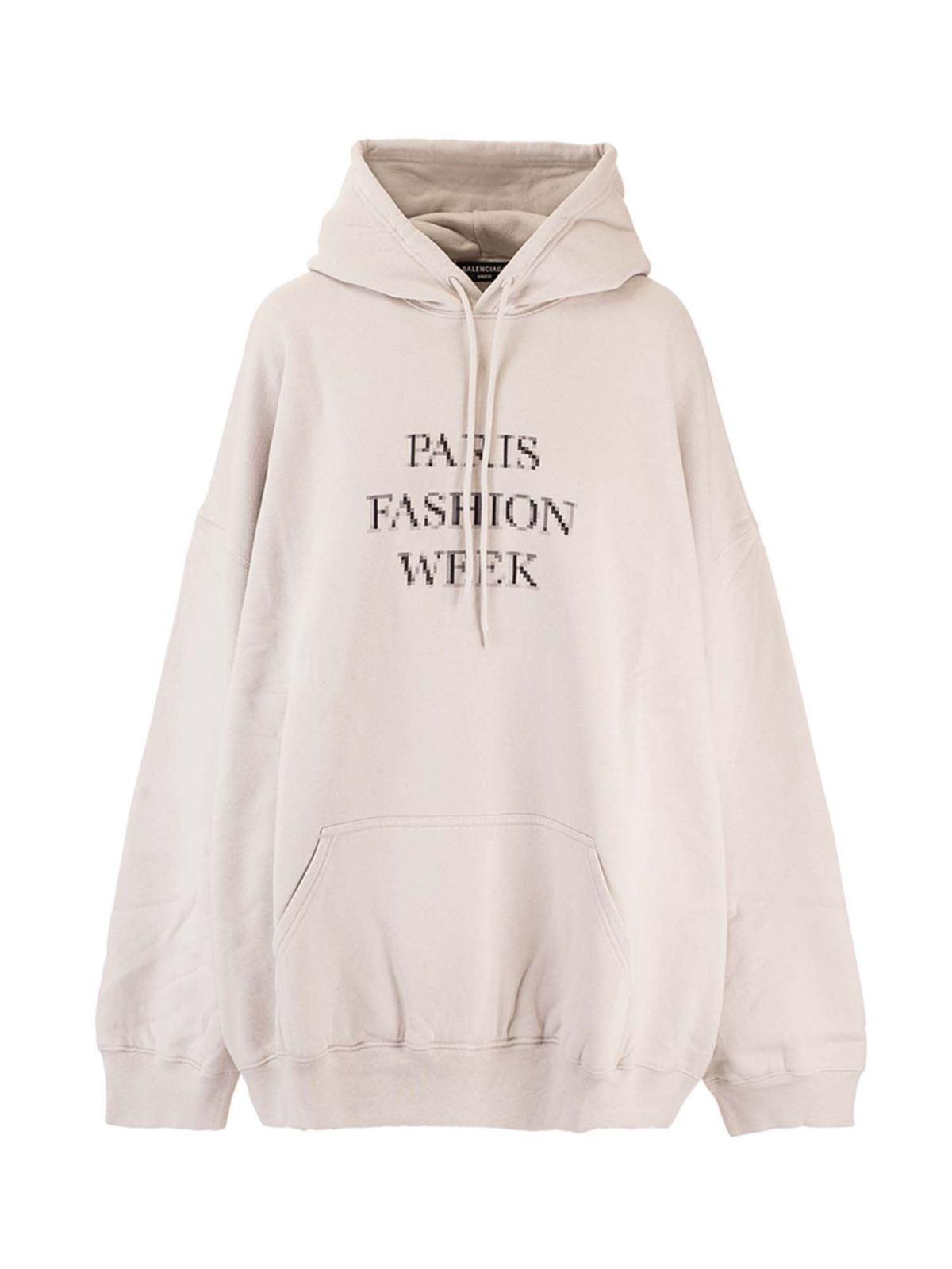 Balenciaga Clothing PARIS FASHION WEEK HOODIE IN GREY