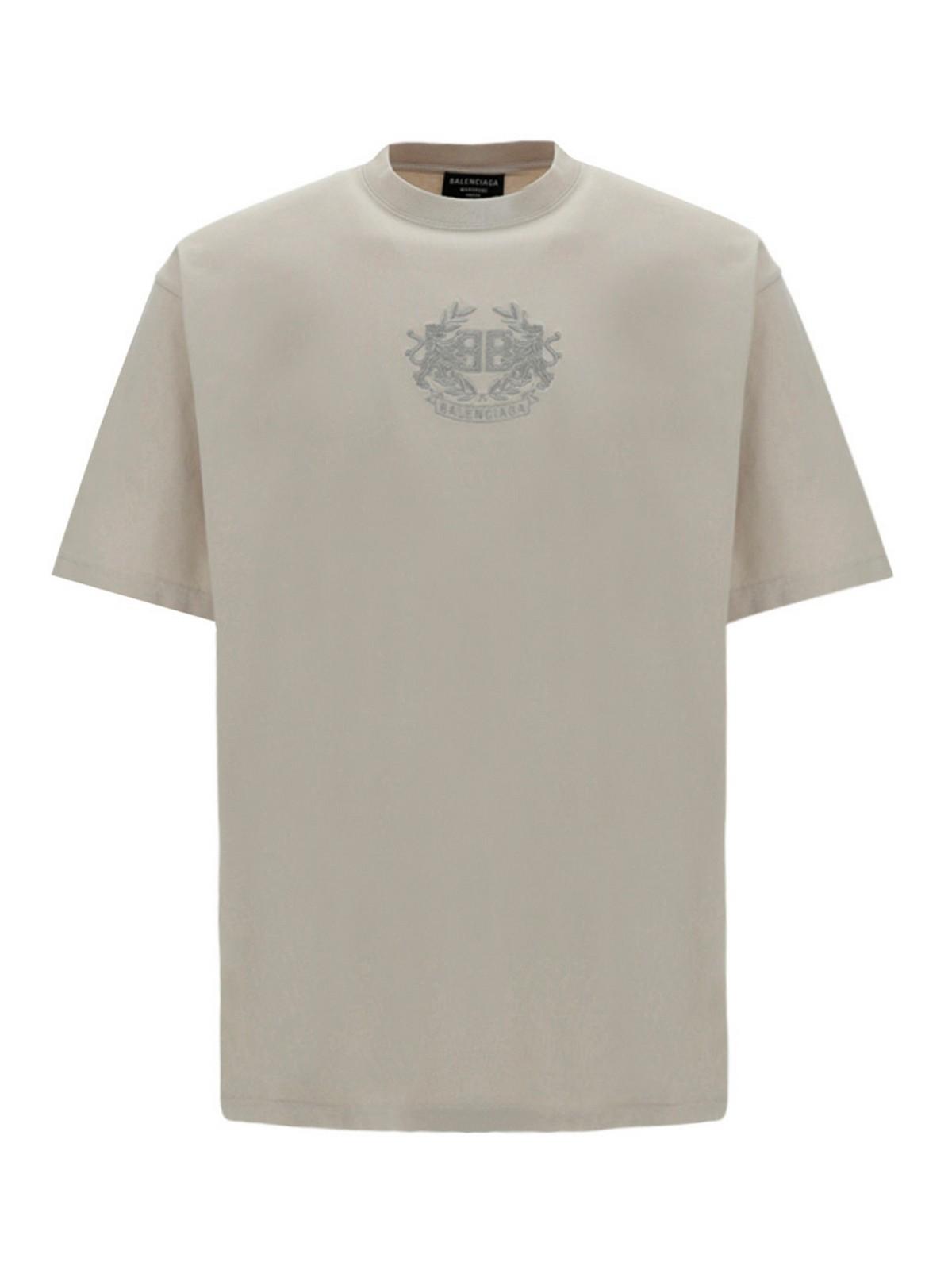 Balenciaga Cottons LOGO EMBROIDERY COTTON T-SHIRT