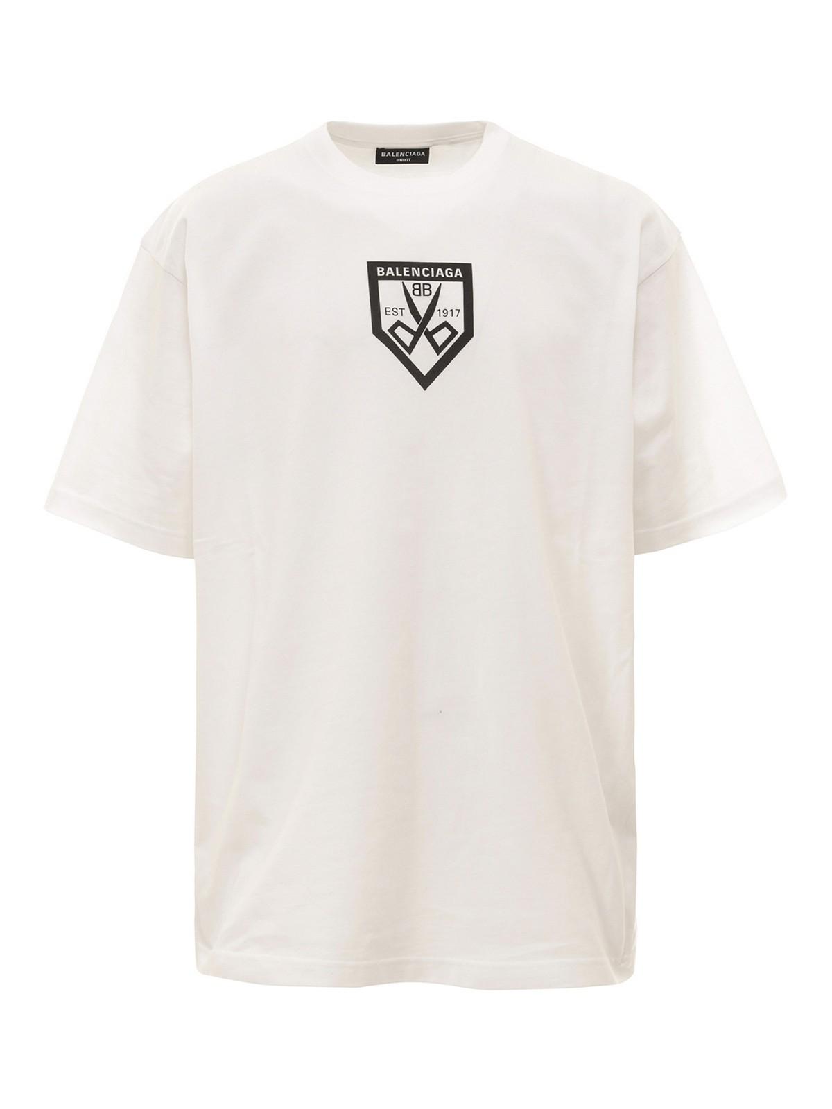 Balenciaga T-shirts SCISSORS FLATGROUND T-SHIRT