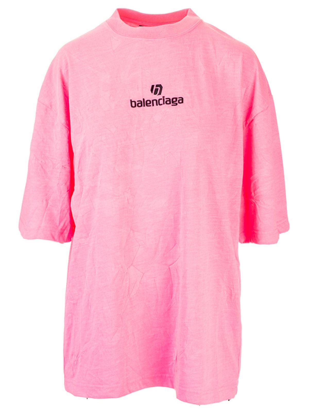 Balenciaga SOCCER T-SHIRT IN PINK