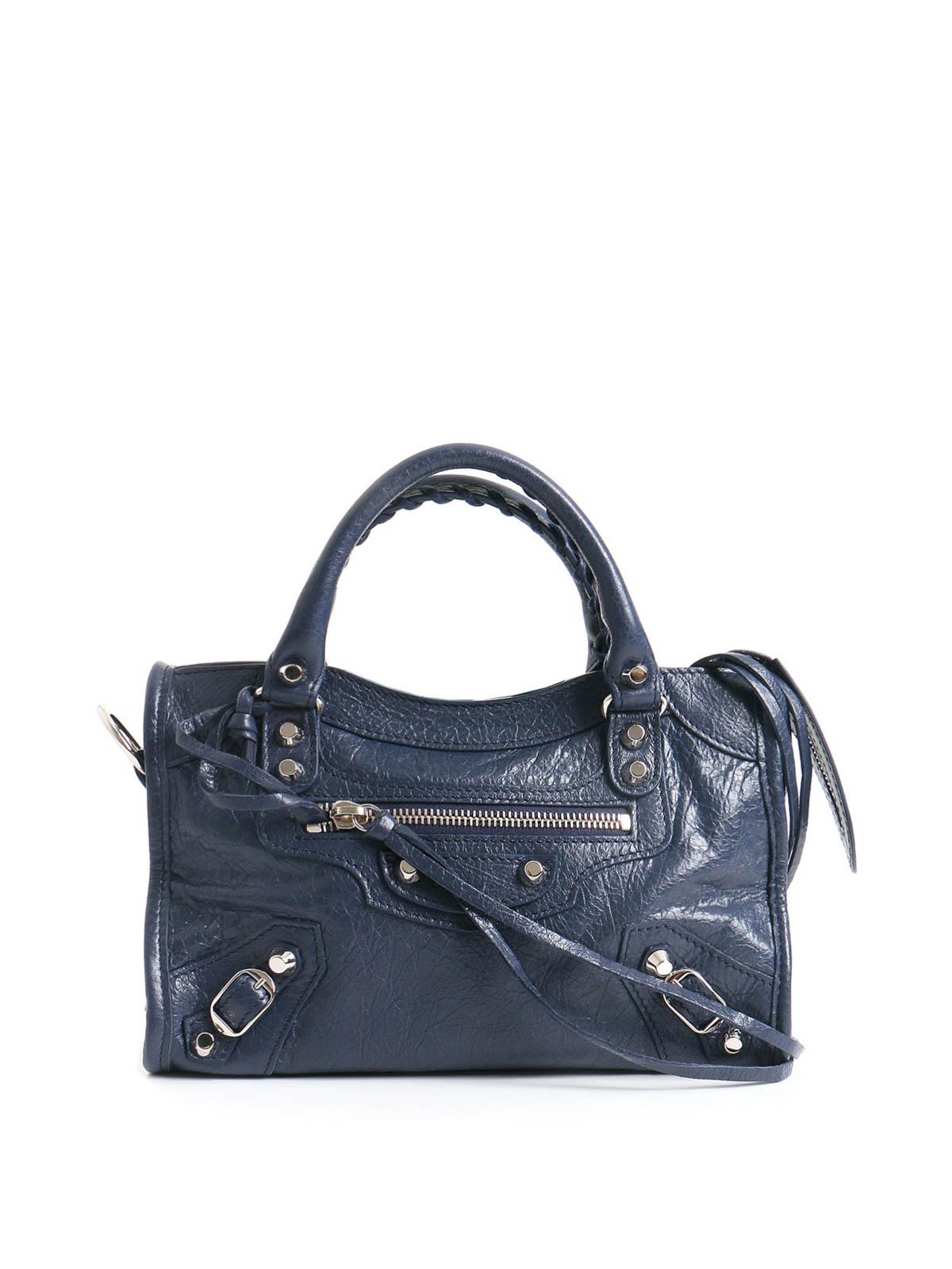 Silver City leather tote by Balenciaga