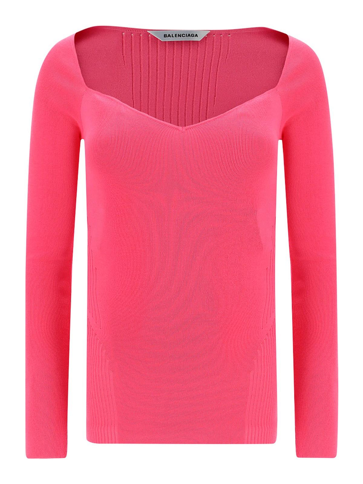 Balenciaga Sweaters SWEETHEART NECK JUMPER
