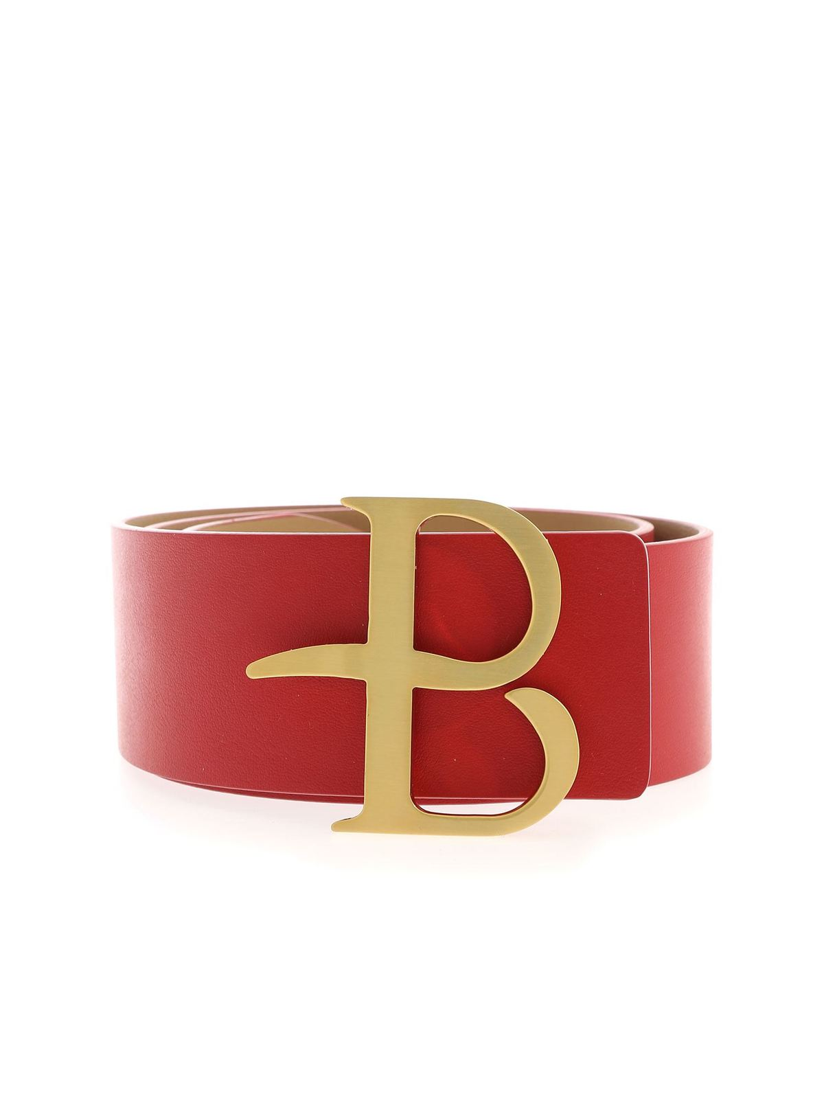 Ballantyne LOGO BUCKLE BELT IN RED