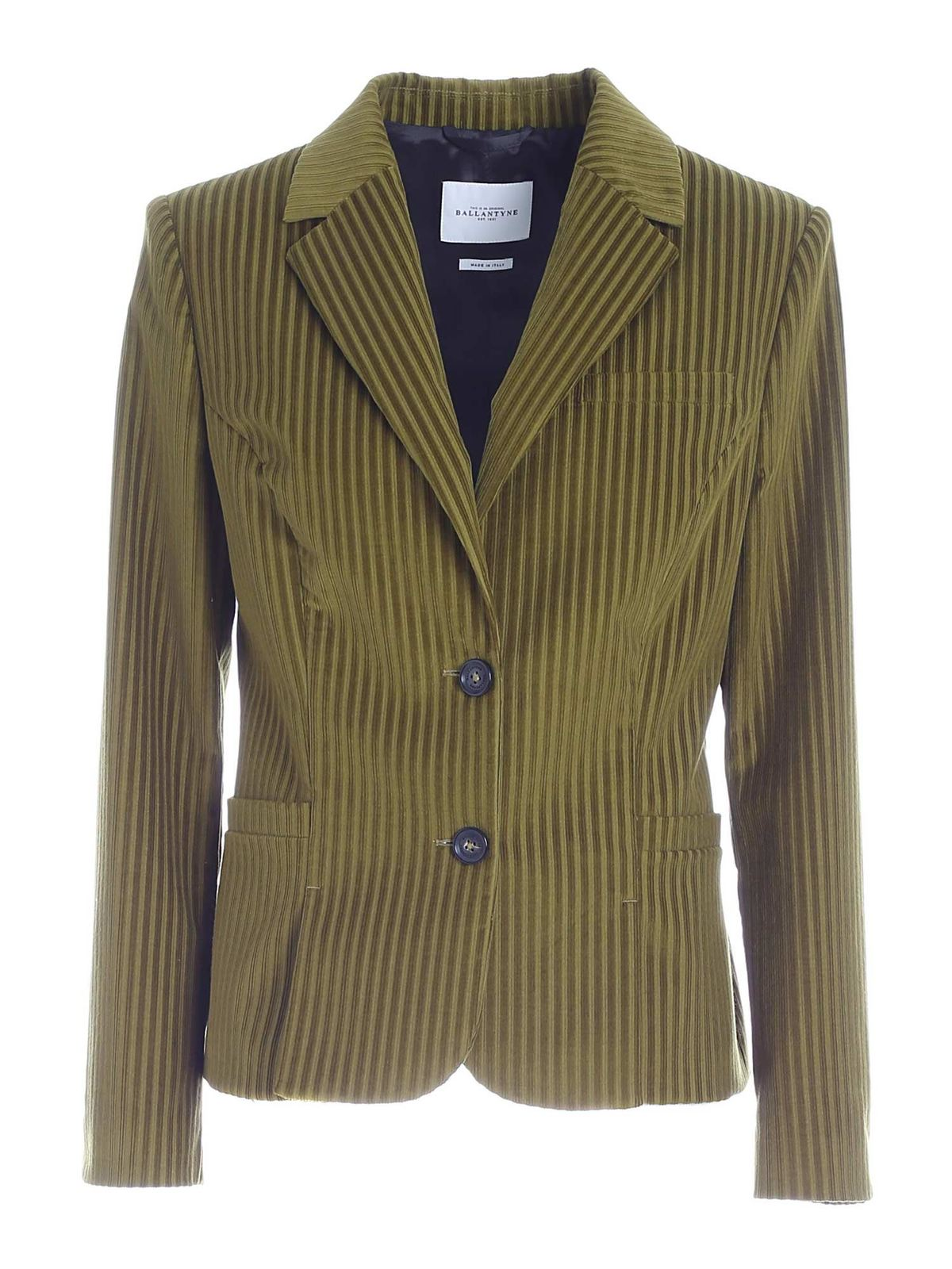 Ballantyne COURDUROY JACKET IN GREEN