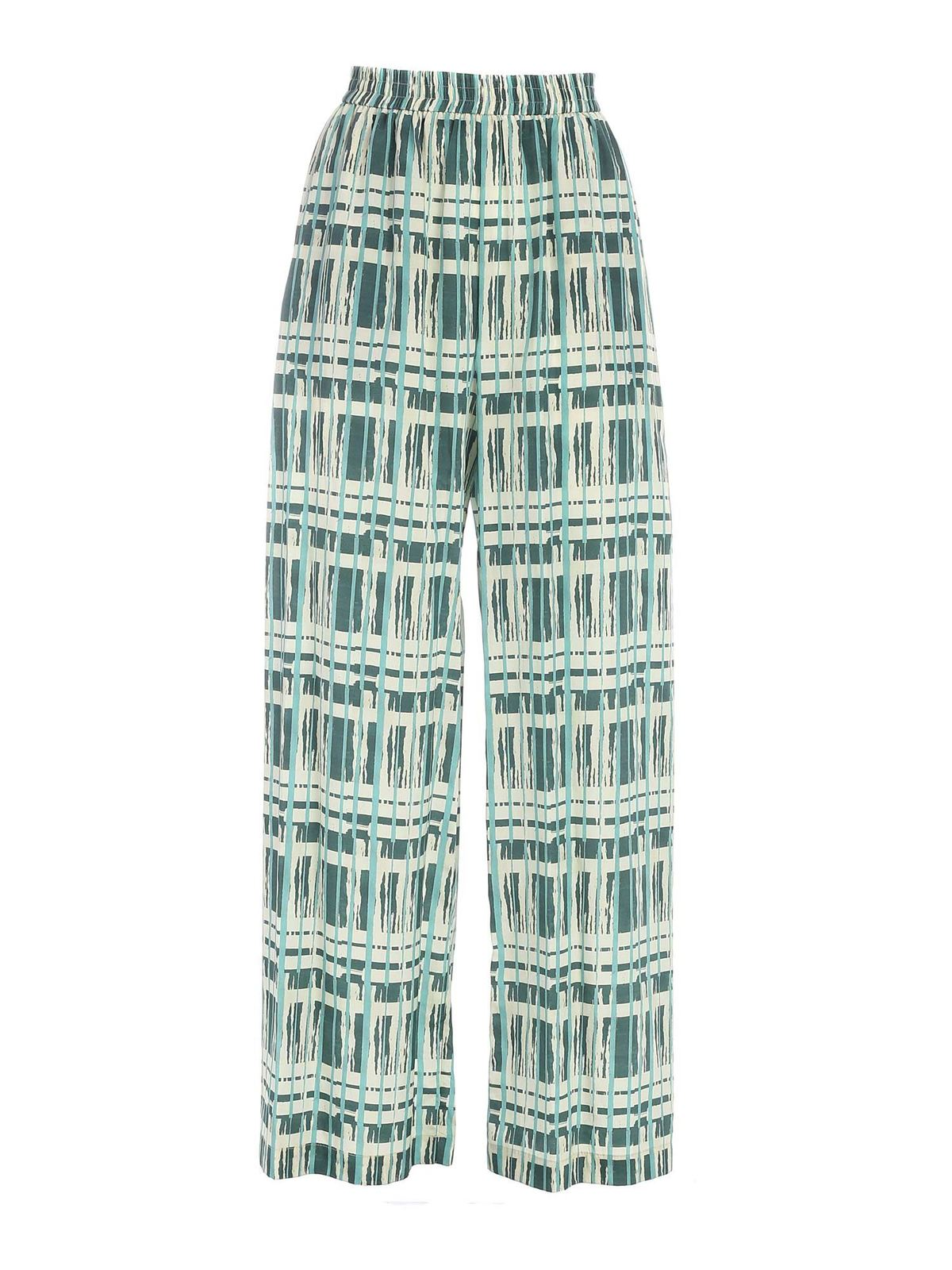 Ballantyne Silks WIDE LEG PANTS IN GREEN