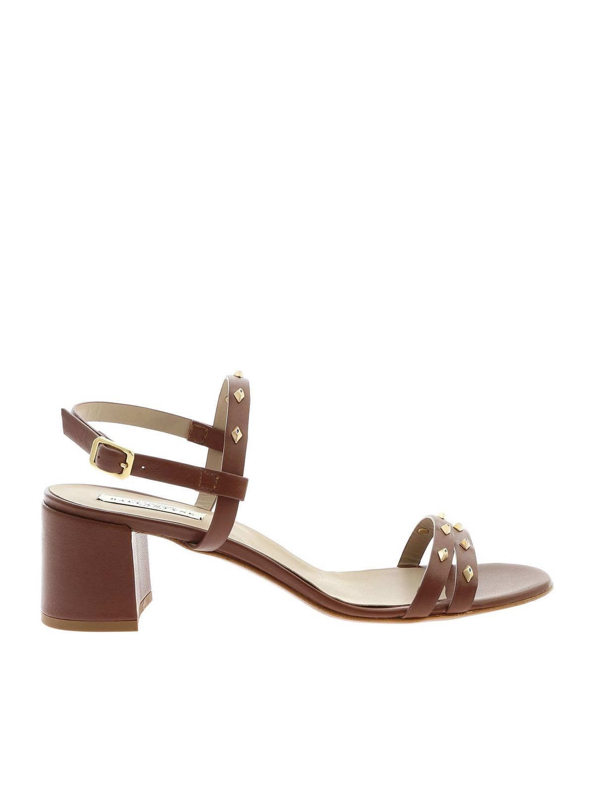 Ballantyne CLAY SANDALS IN BROWN WITH STUDS