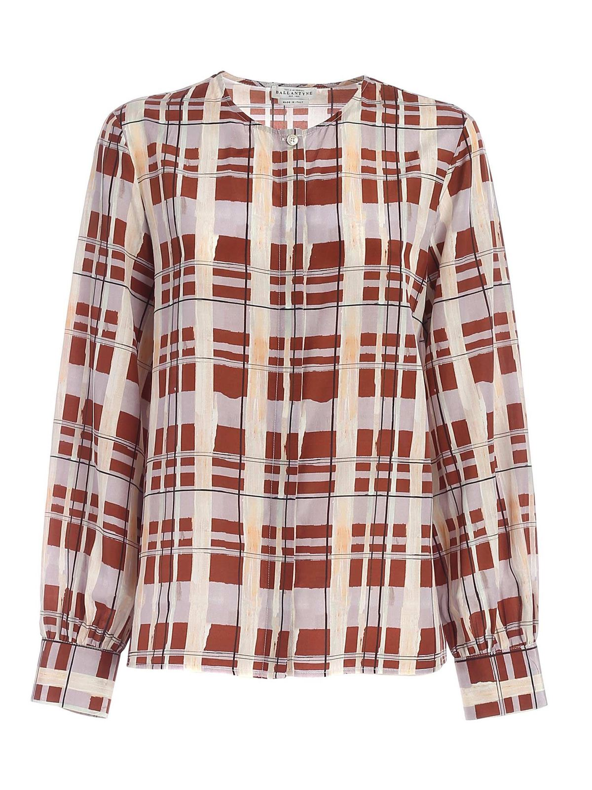 Ballantyne Silks CHECKED PRINT MULTICOLOR SHIRT