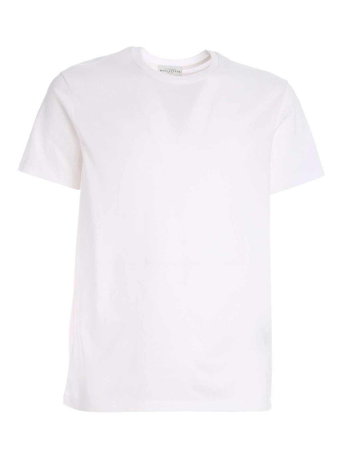 Ballantyne Cottons BASIC T-SHIRT IN WHITE