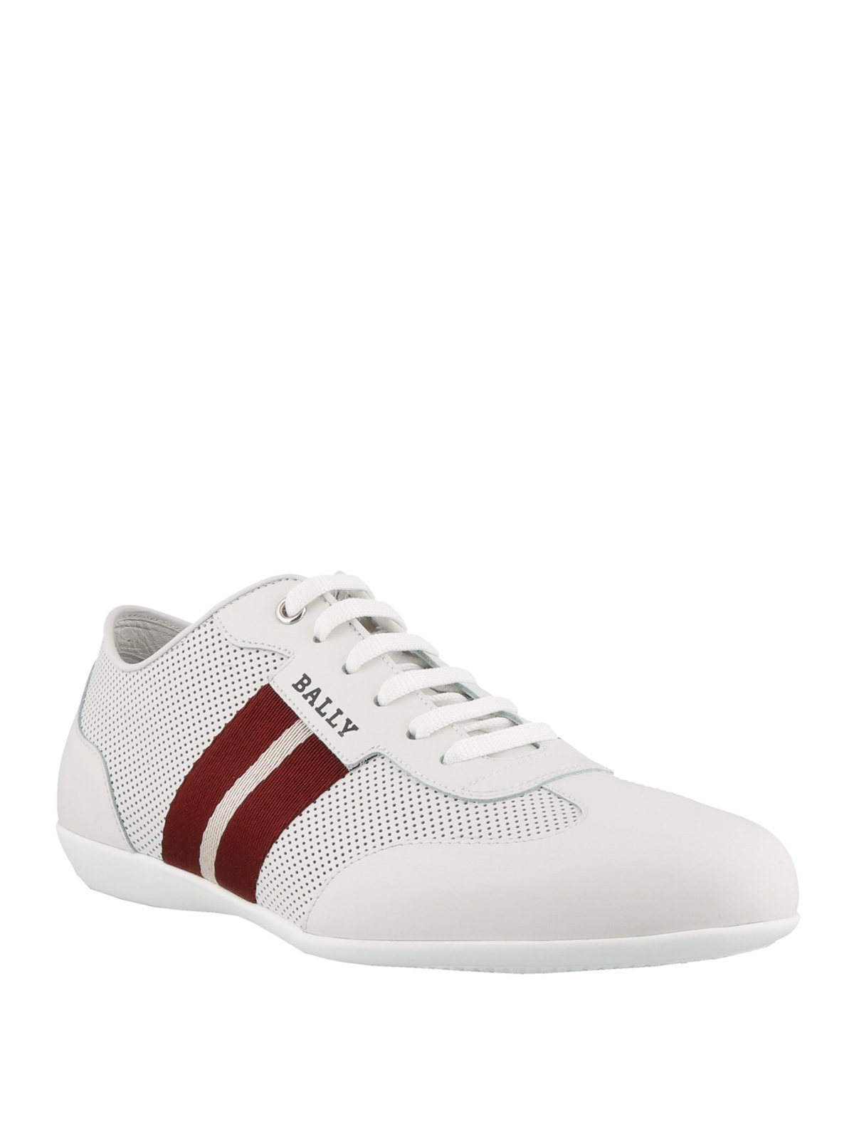Bally - Harlam white perforated leather