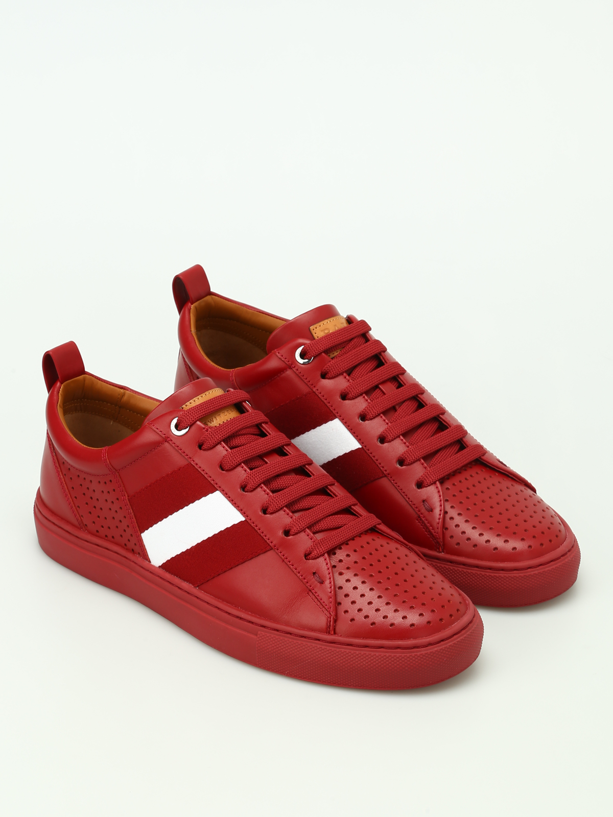 Bally - Henton red leather sneakers