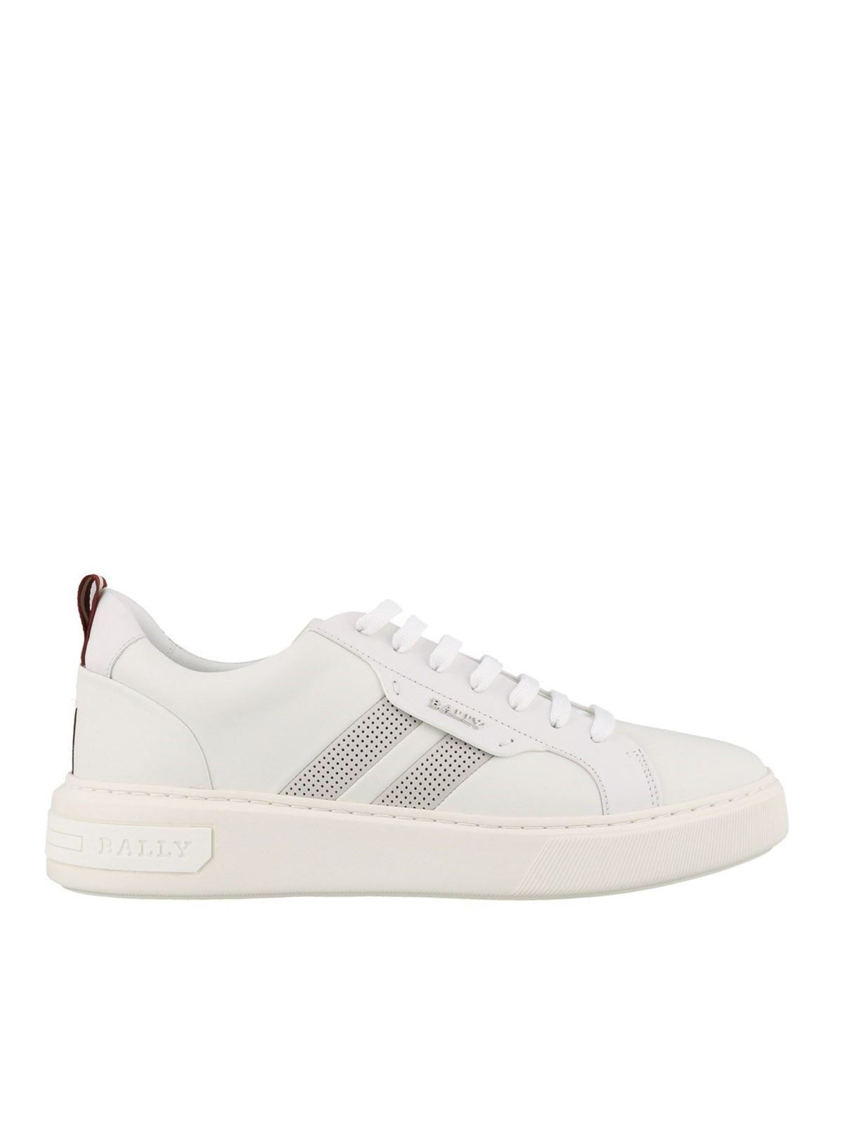 Bally Leathers MAXIM SNEAKERS IN WHITE