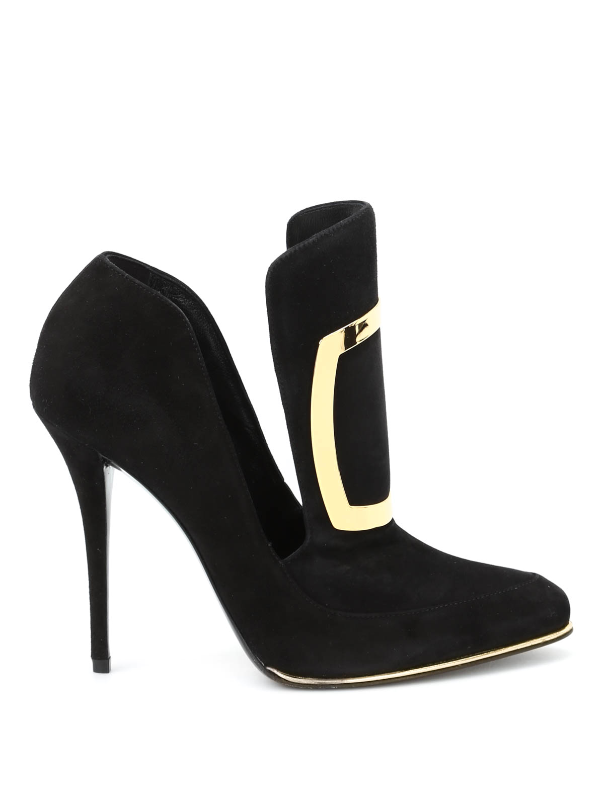 desir 233 cut out suede ankle boots by balmain ankle boots
