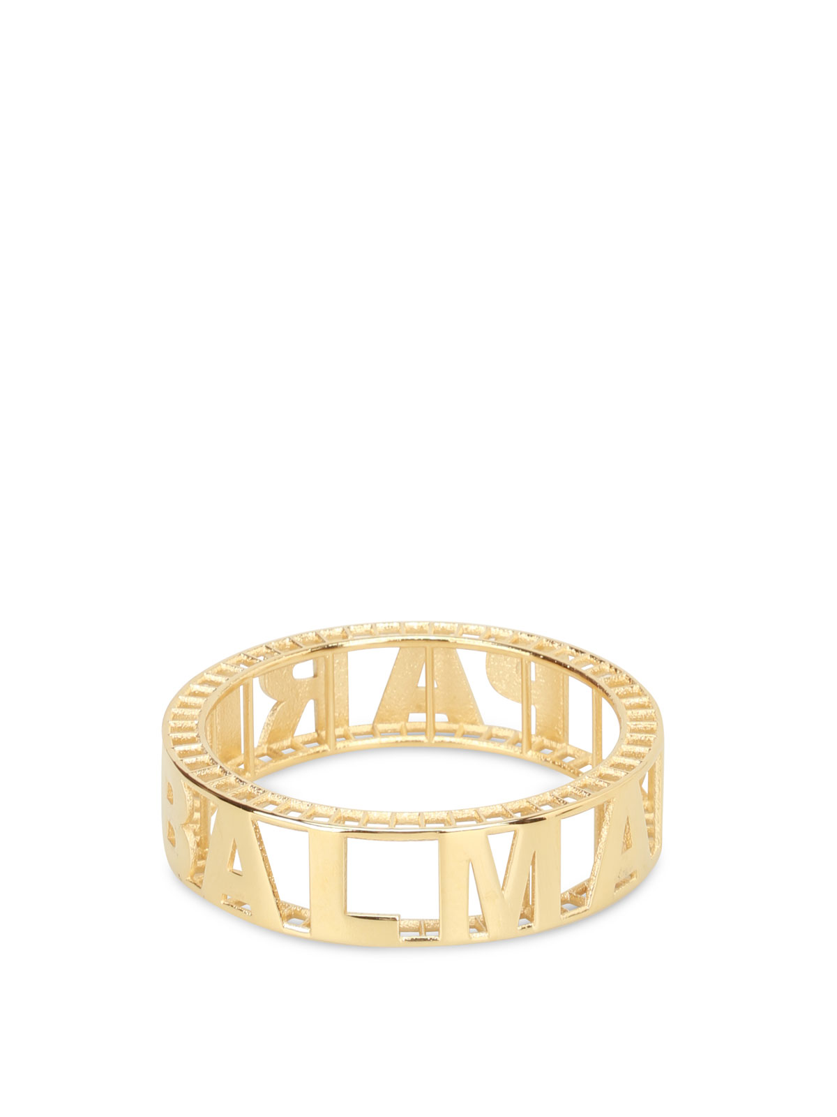 Balmain GOLD-TONE BRASS LOGO BANGLE