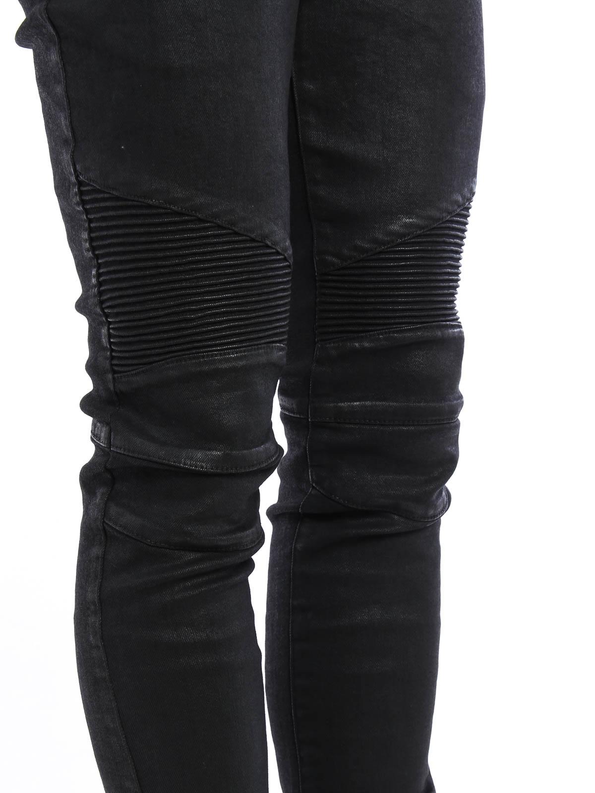 59b282175d8cef Balmain - Coated biker jeans - skinny jeans - W6H D528 C807 176