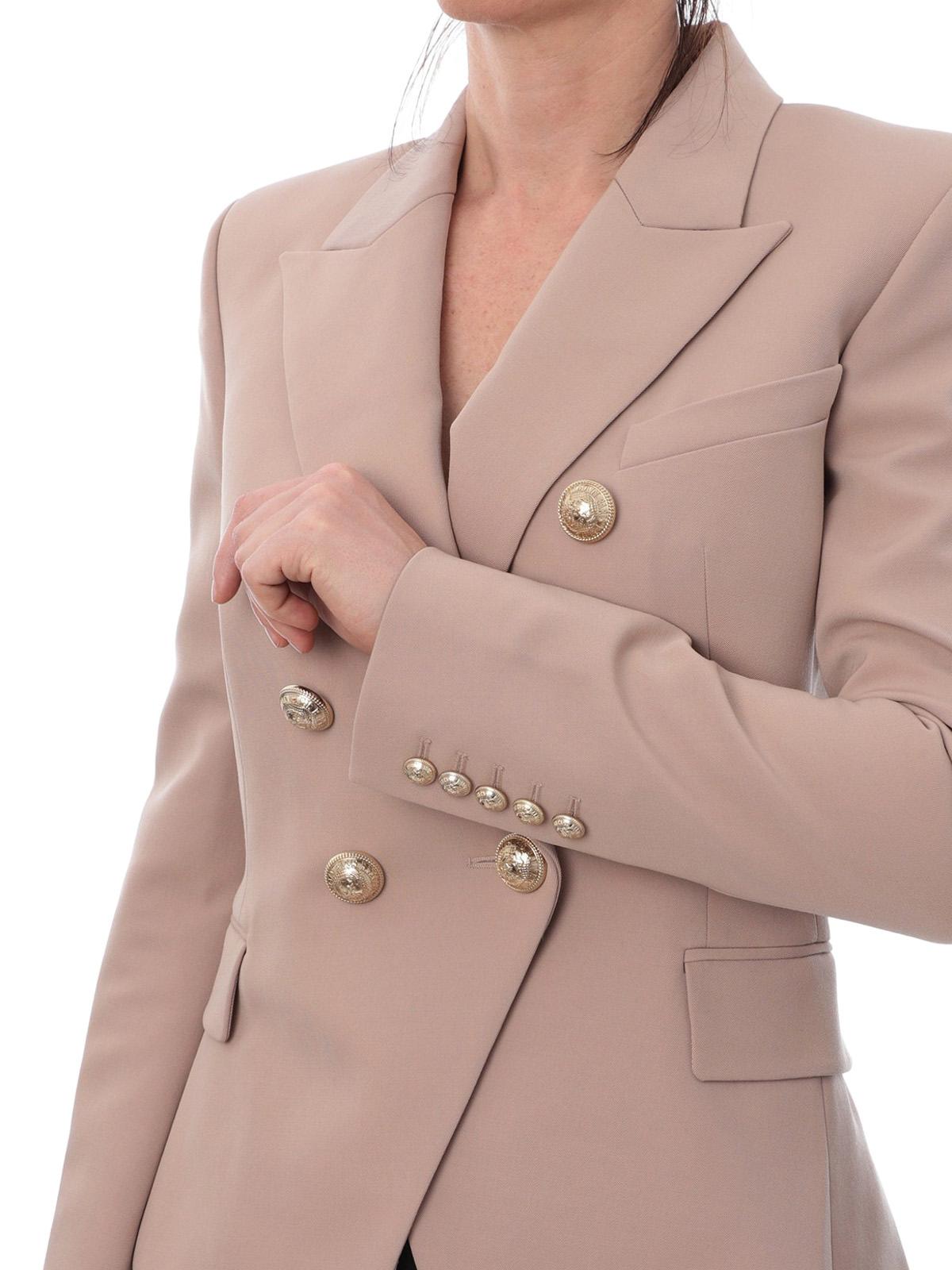 Balmain Giacca iconica in lana con bottoni dorati giacche