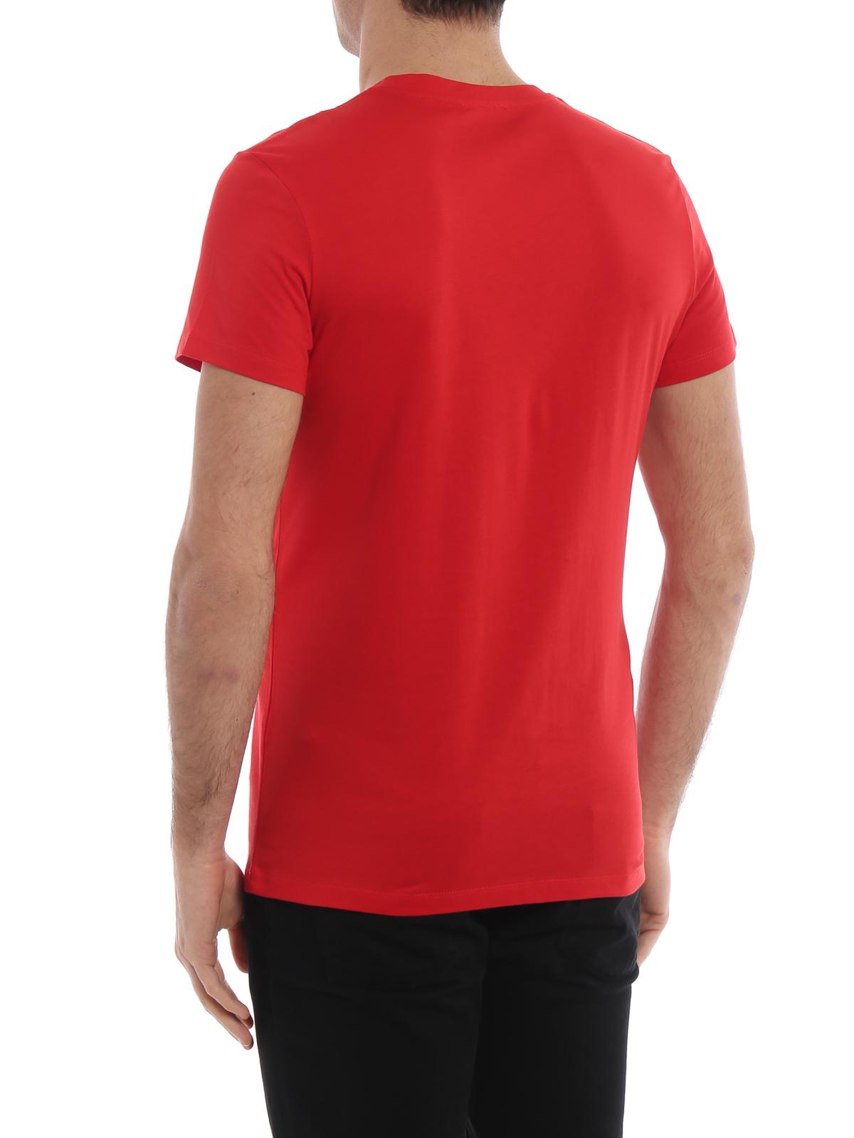cc85eb6a6 Balmain - Balmain logo print red T-shirt - t-shirts - RH01601I1263AA