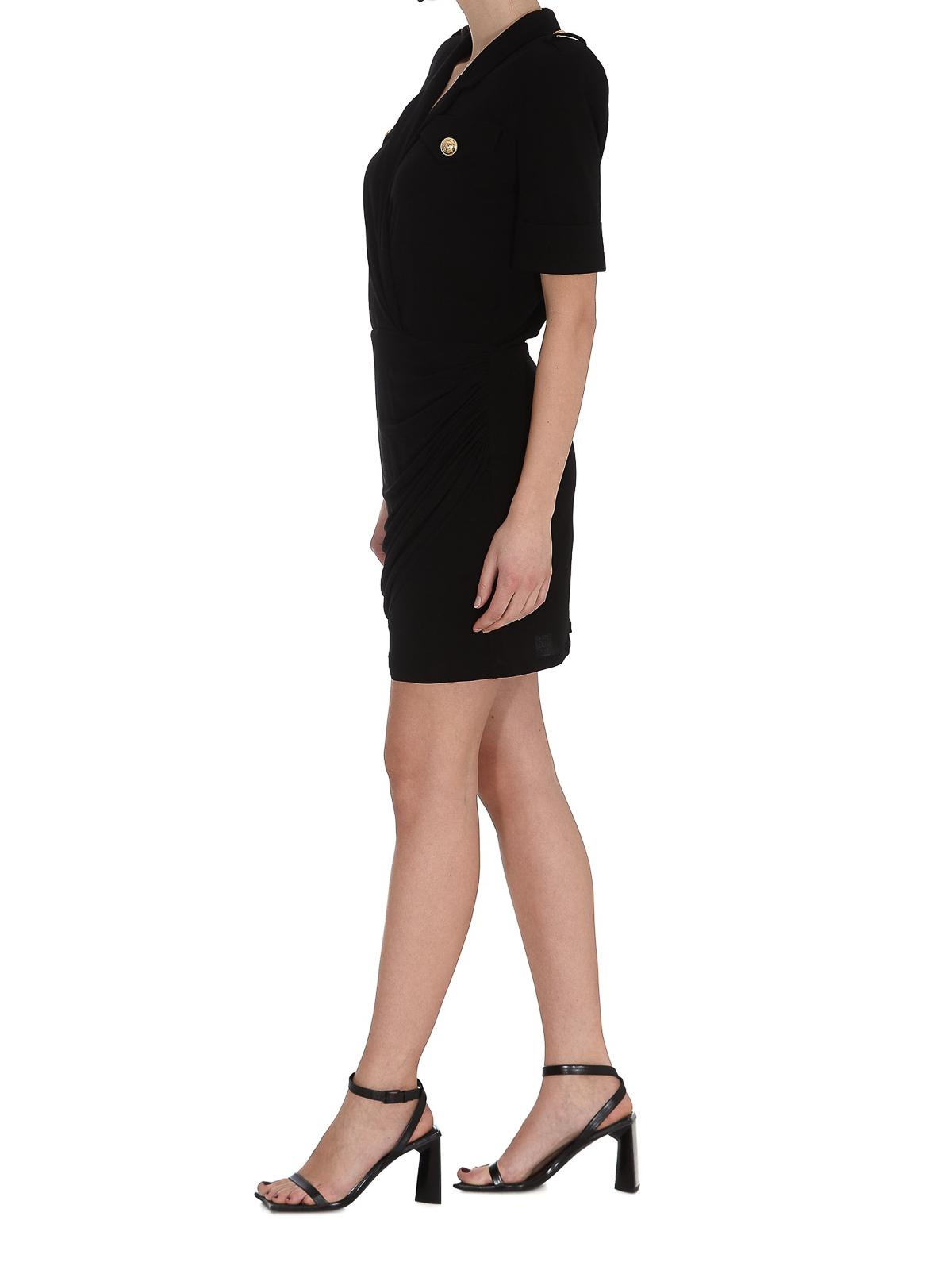 Balmain Dresses DRAPED VISCOSE DRESS