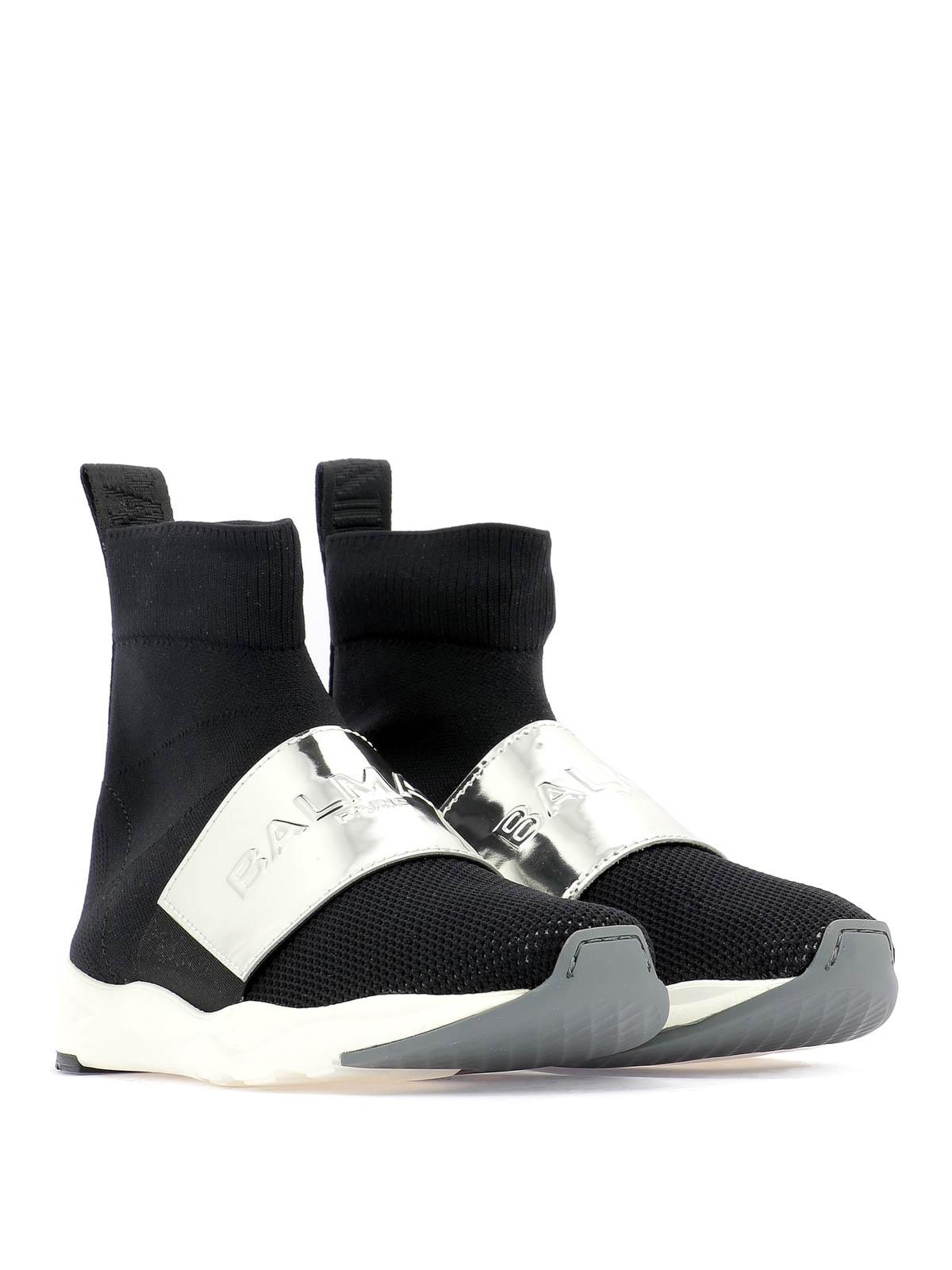 Balmain - Cameron black sock sneakers