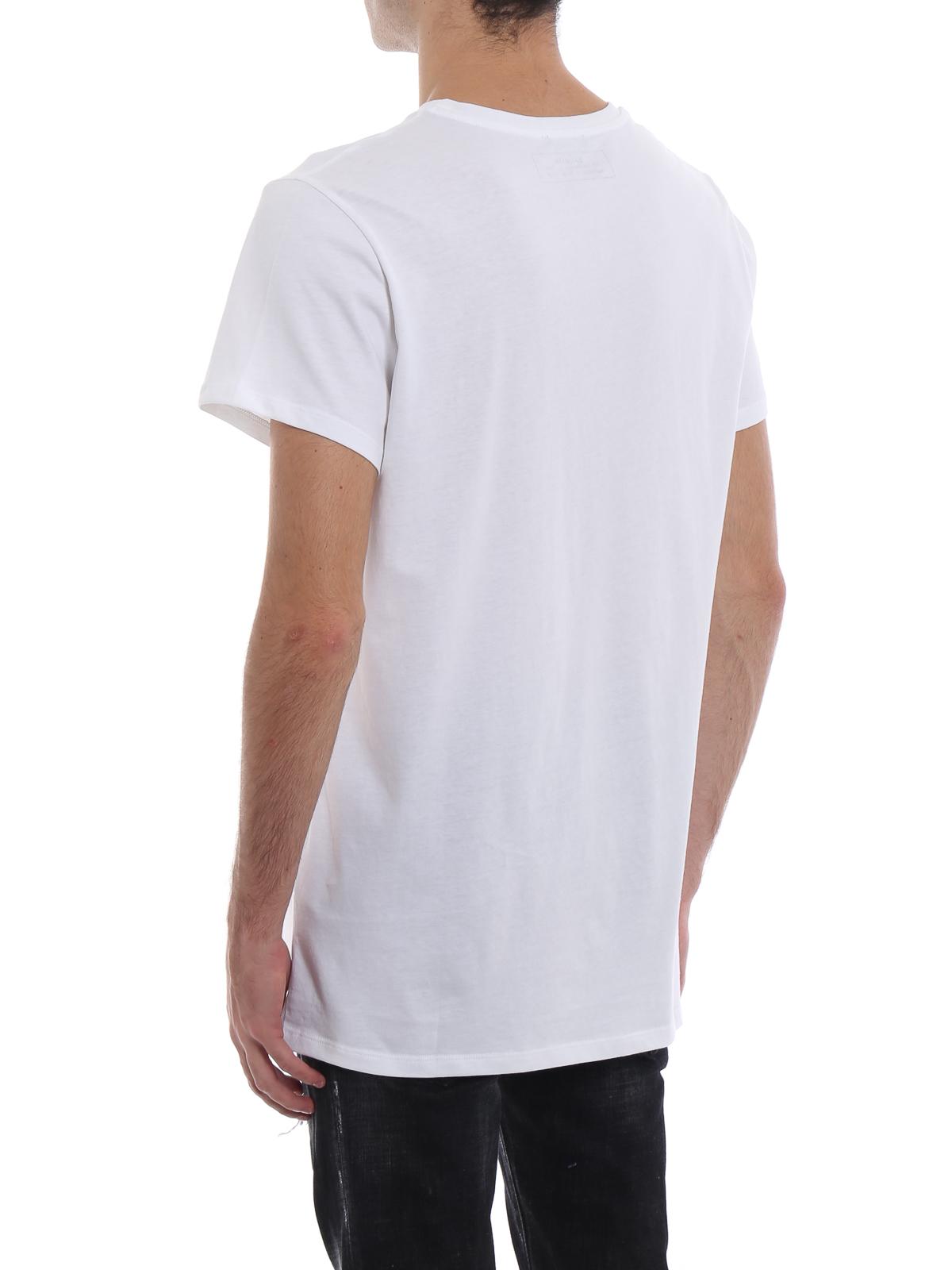 Balmain Balmain Paris rubberized logo cotton T shirt t