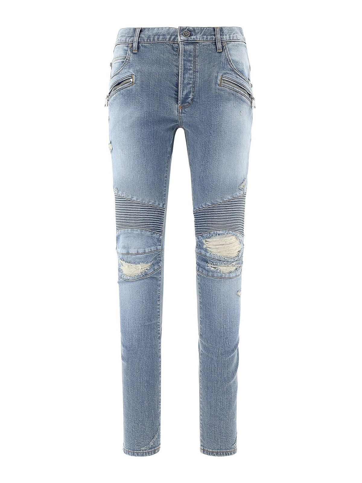 Balmain Cottons RIPPED JEANS